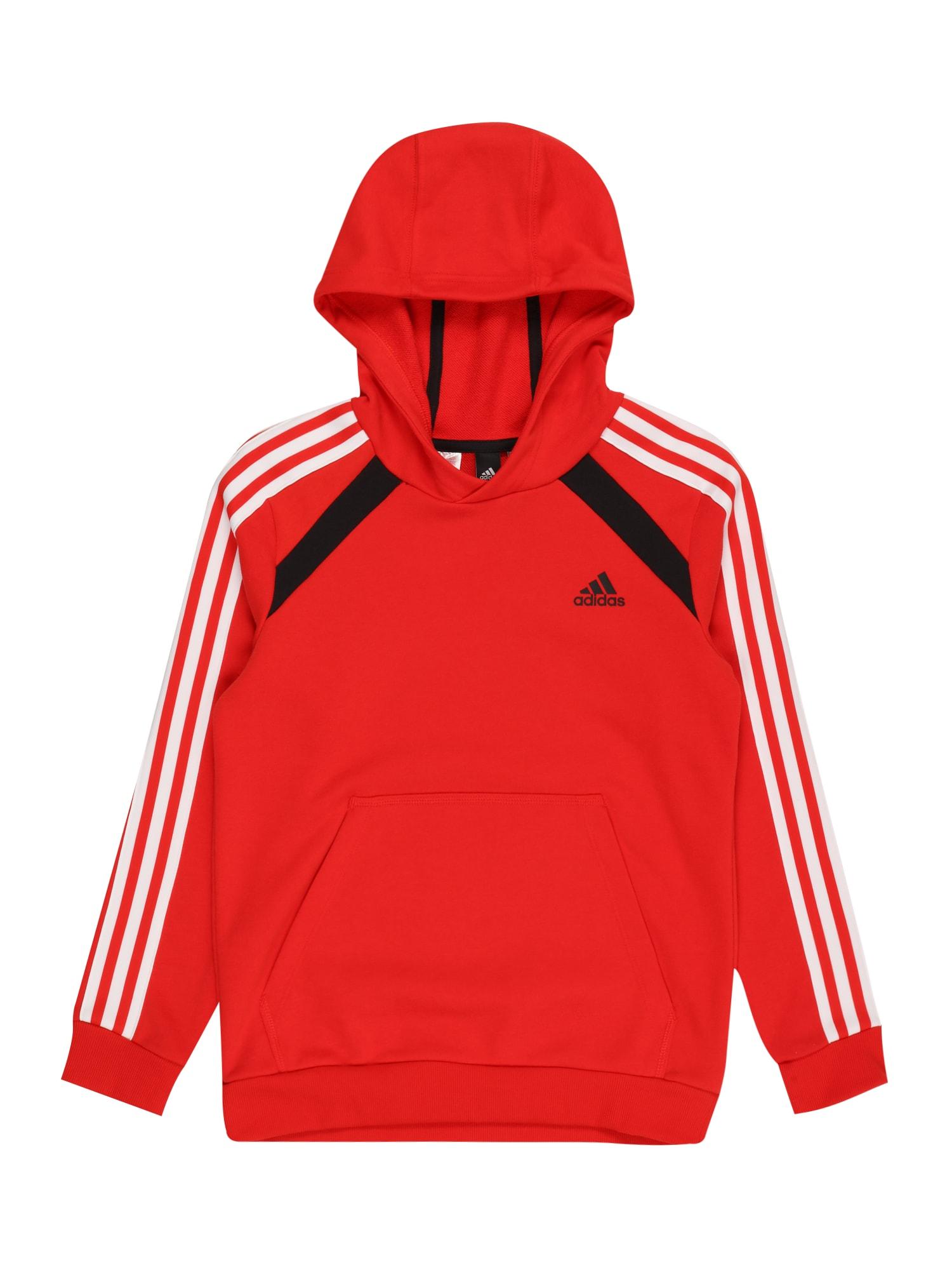 ADIDAS PERFORMANCE Sportinio tipo megztinis raudona / balta / juoda