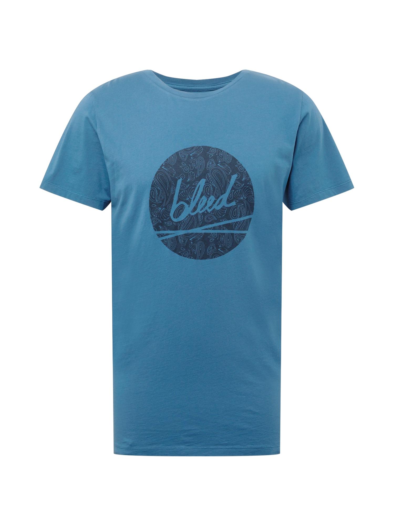 bleed clothing Marškinėliai mėlyna / tamsiai mėlyna