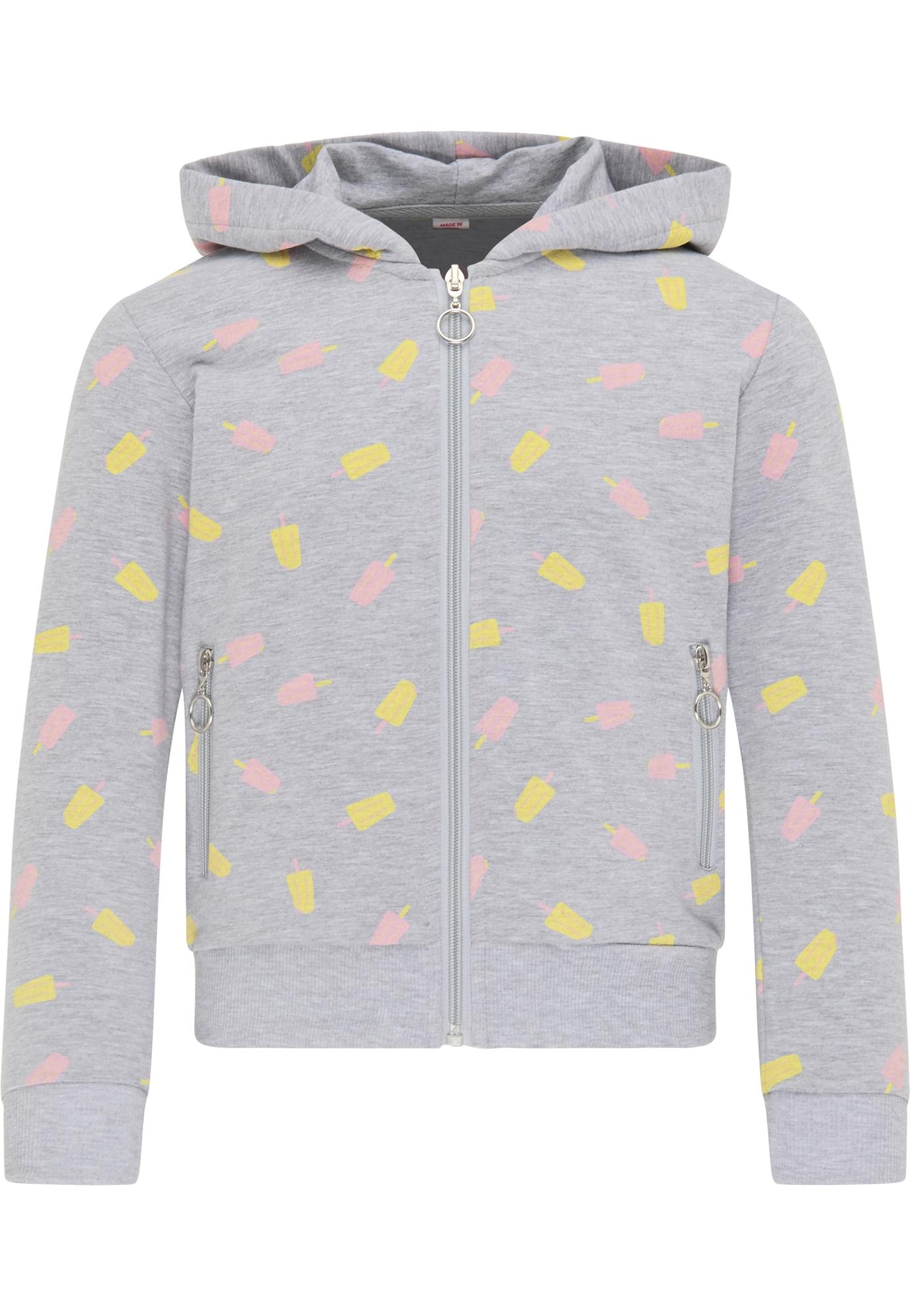 myMo KIDS Džemperis šviesiai pilka / šviesiai geltona / rožinė