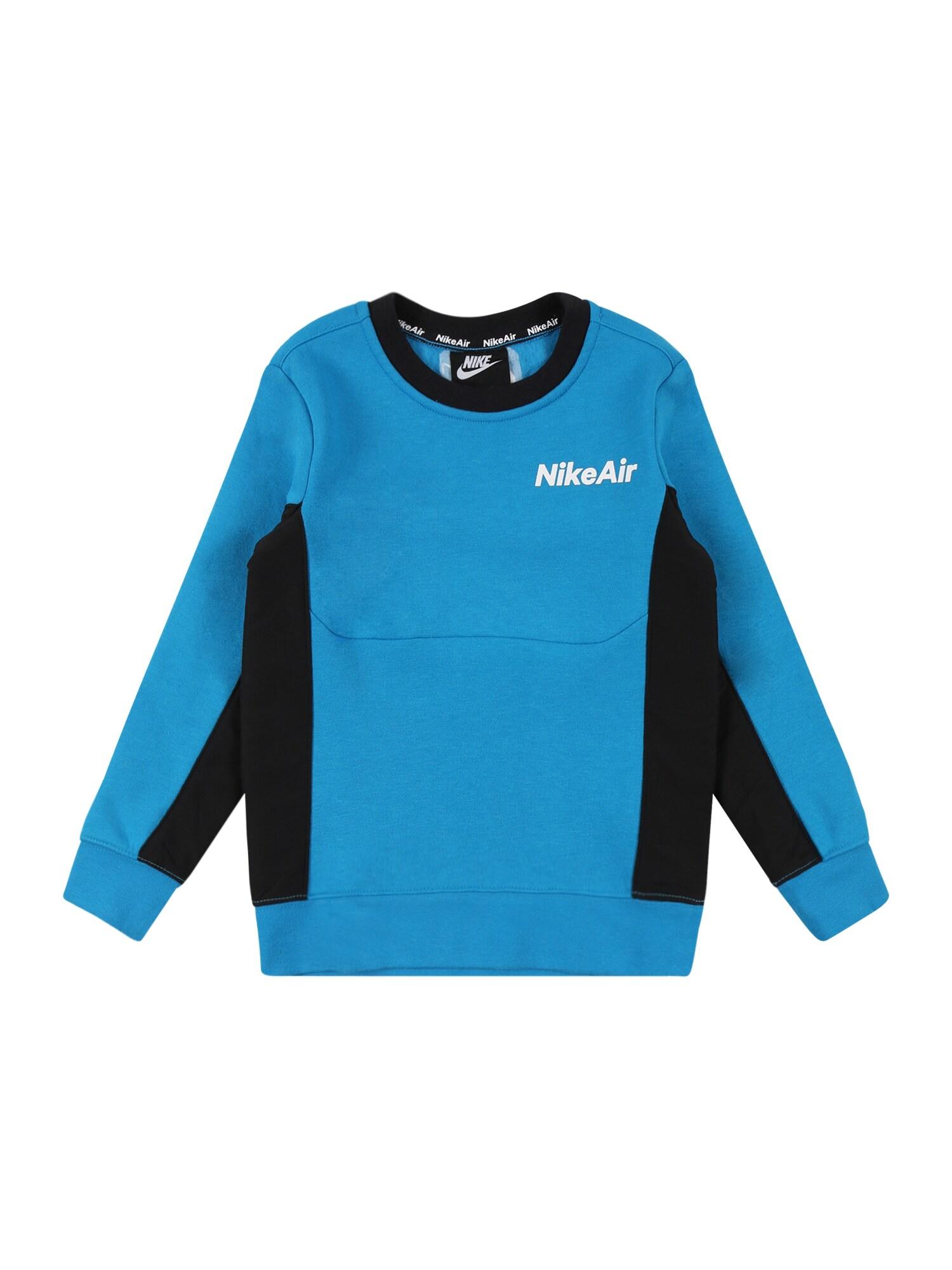 "Nike Sportswear Megztinis be užsegimo juoda / sodri mėlyna (""karališka"") / balta"
