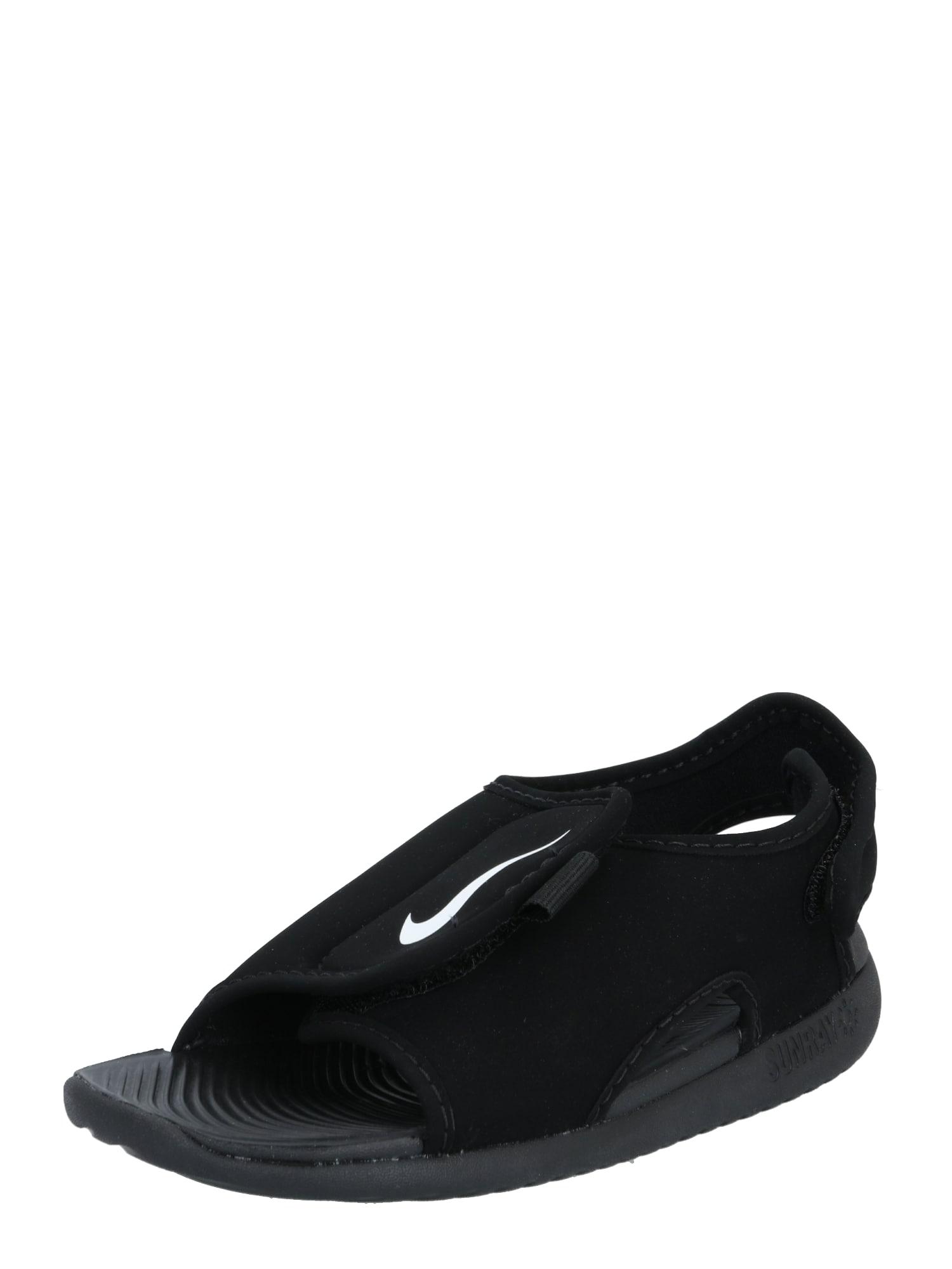 NIKE Sandalai 'Nike Sunray Adjust 5 V2' juoda / balta