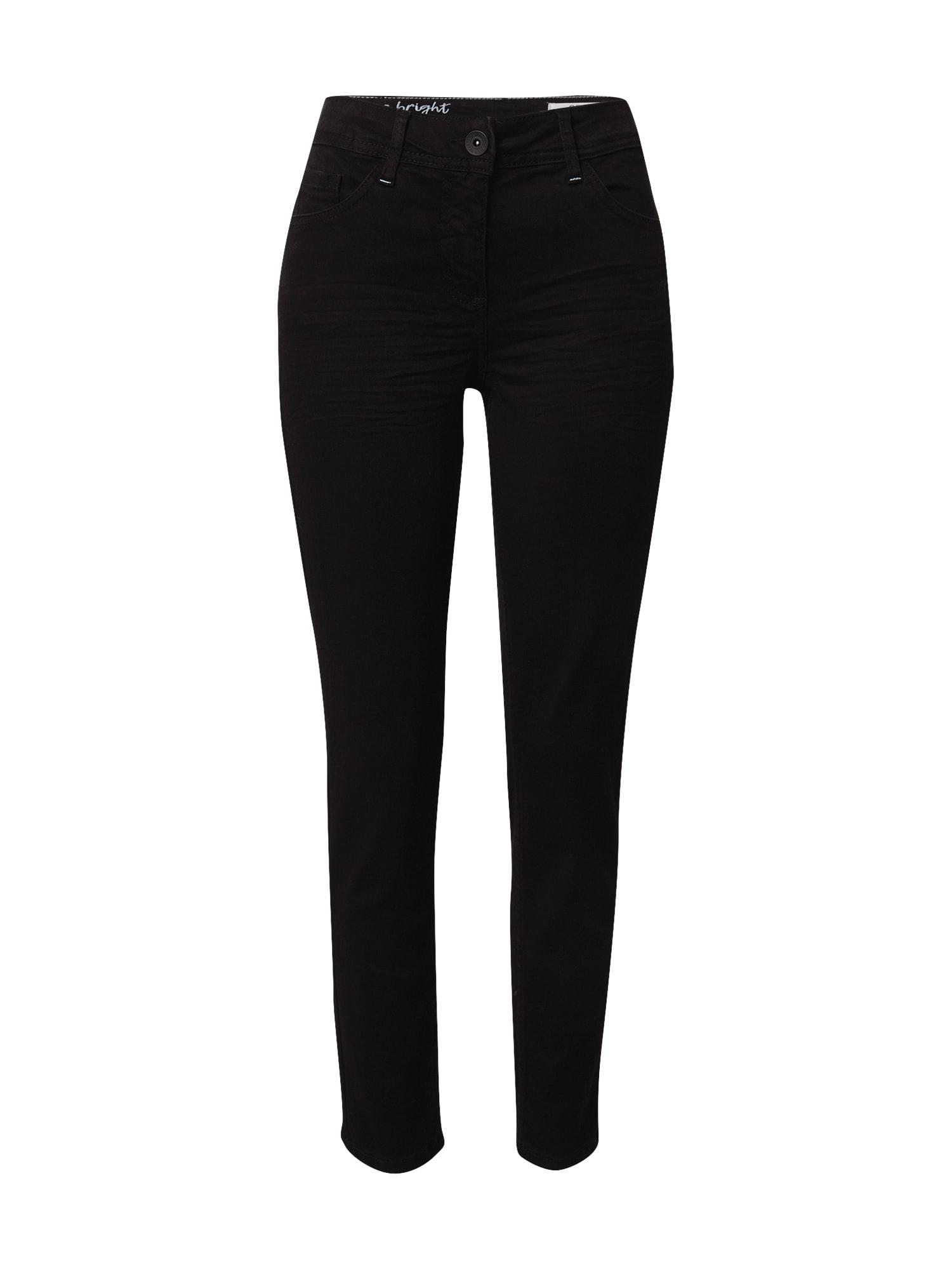 CECIL Džinsai juodo džinso spalva