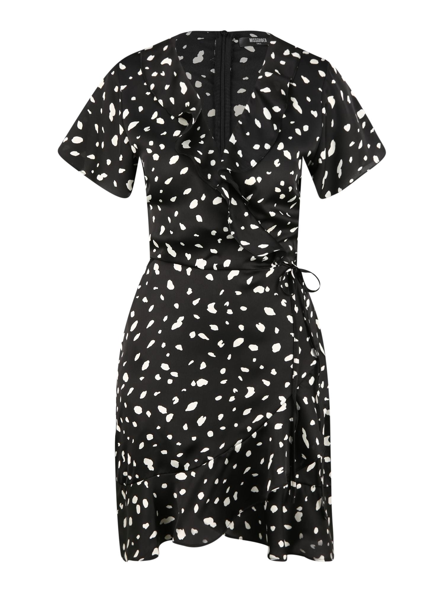 Missguided (Tall) Palaidinės tipo suknelė juoda / balta