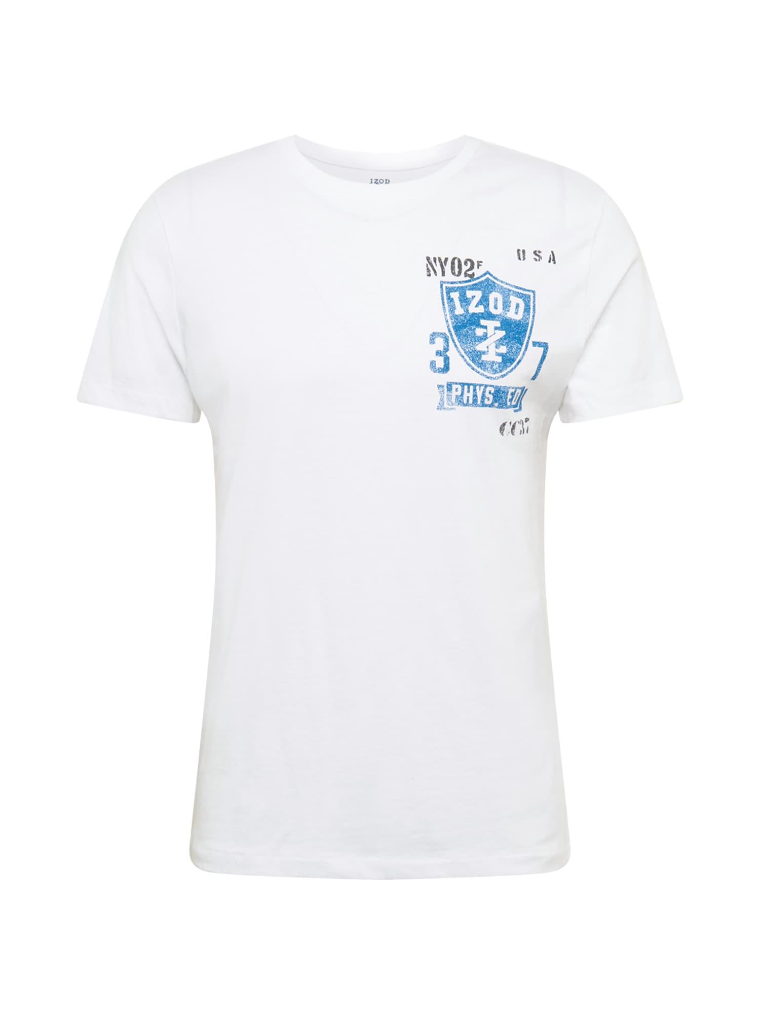 IZOD Marškinėliai balta / šviesiai mėlyna