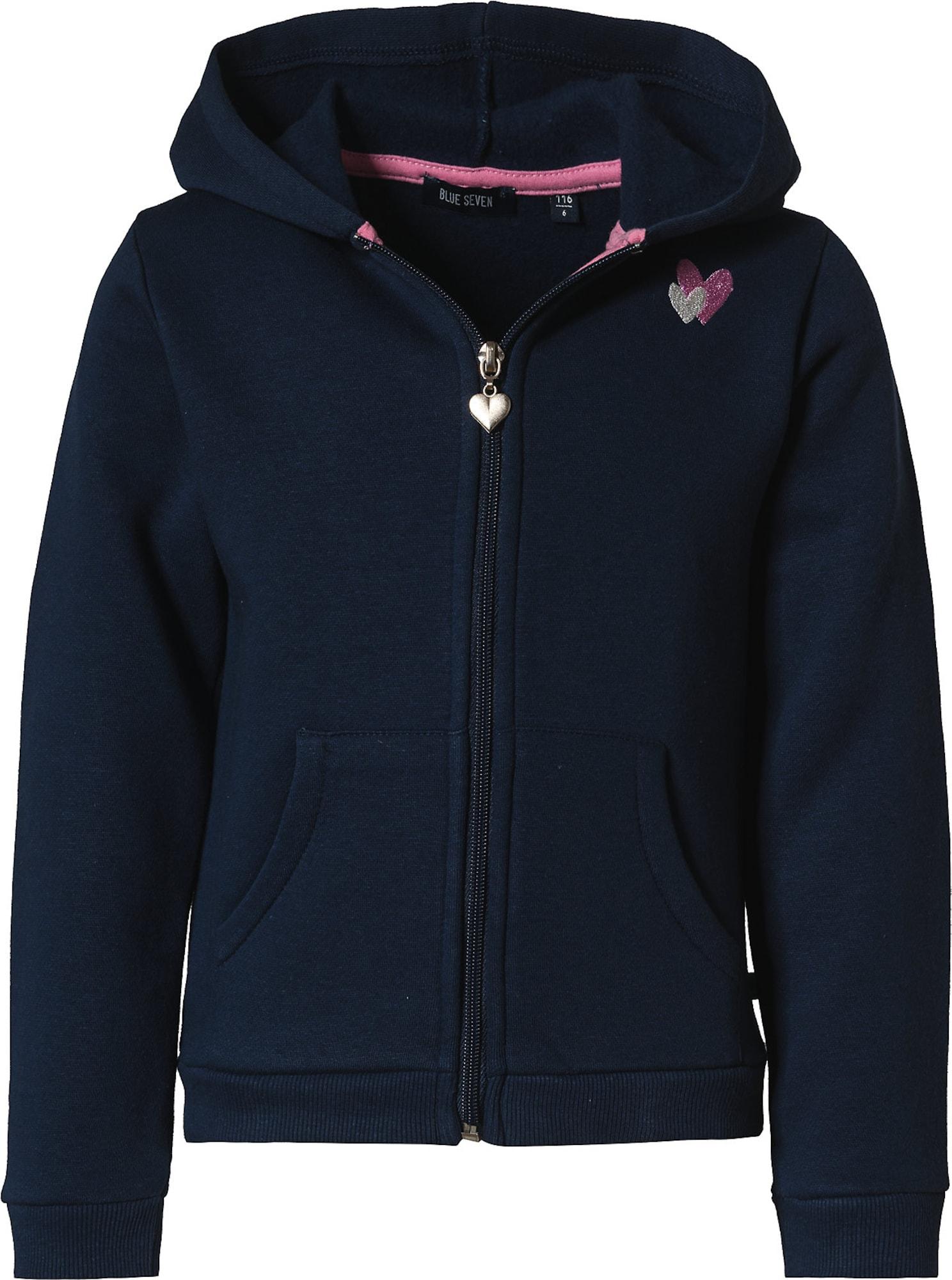 BLUE SEVEN Džemperis nakties mėlyna / šviesiai rožinė / sidabrinė