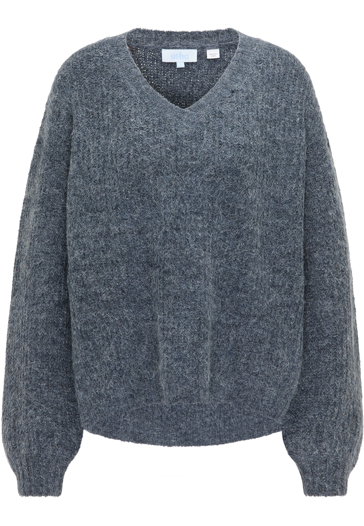 usha BLUE LABEL Laisvas megztinis mėlyna dūmų spalva
