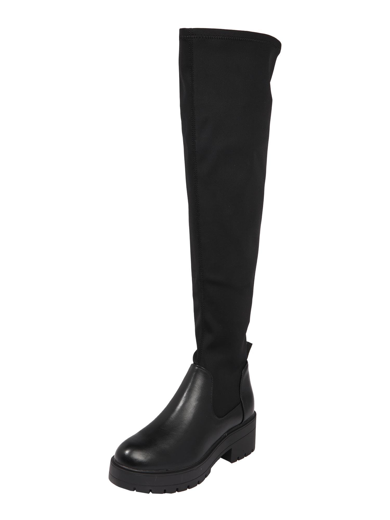 ONLY Čižmy nad koleno 'Branka'  čierna