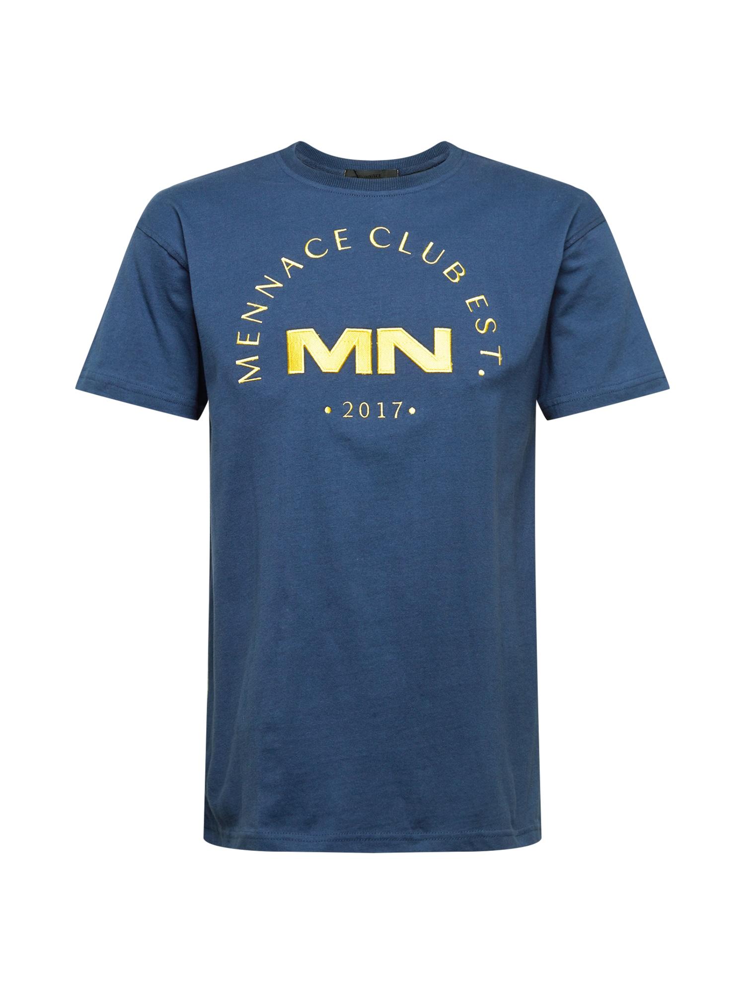 Mennace Marškinėliai tamsiai mėlyna / geltona