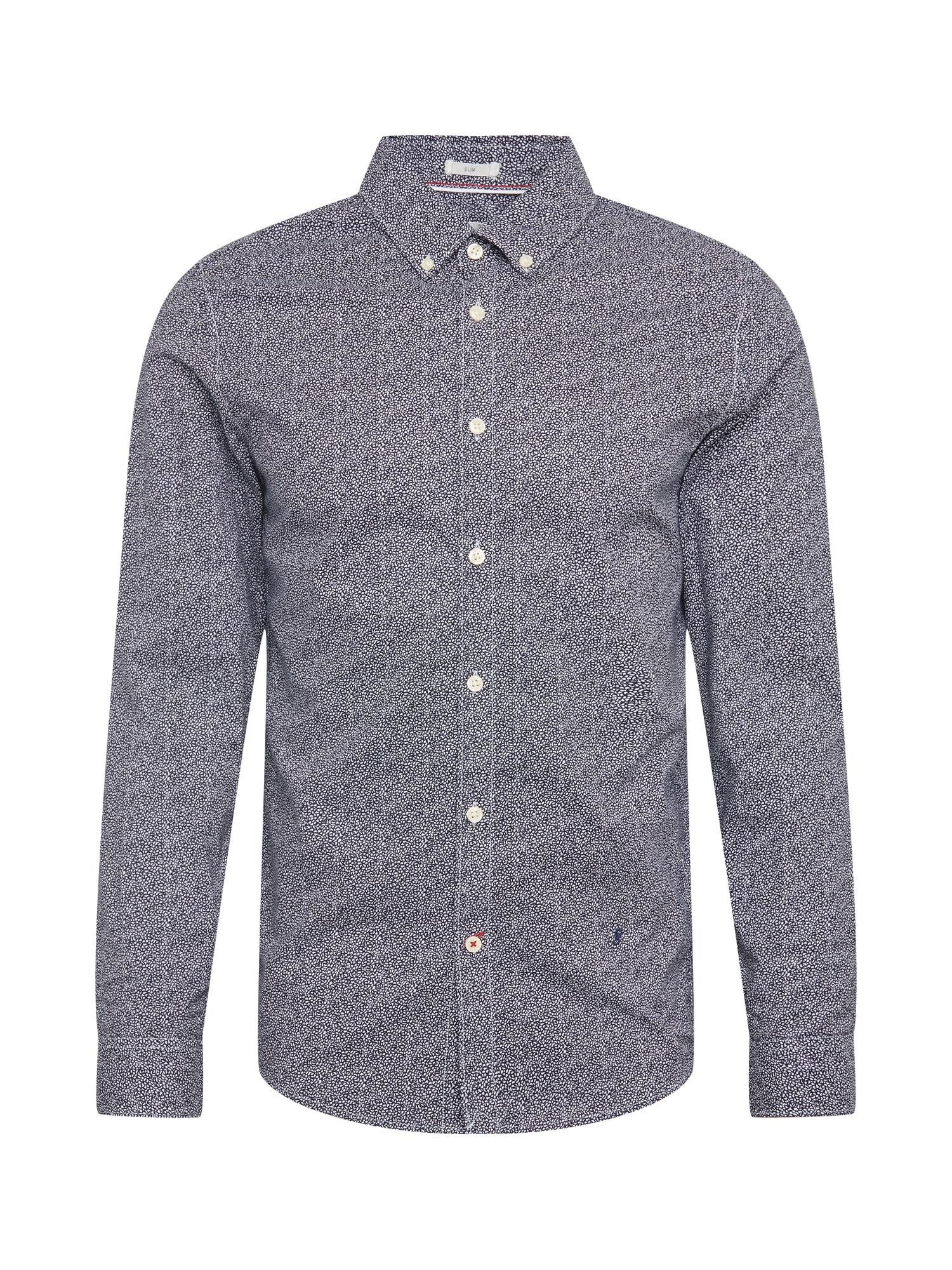 Pepe Jeans Košile 'Bastford'  bílá / tmavě modrá