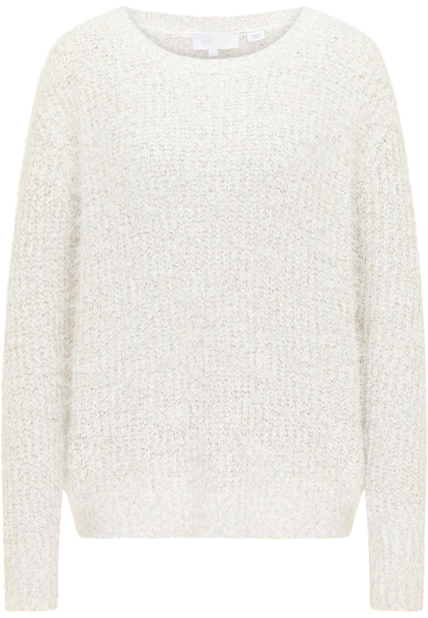 usha WHITE LABEL Megztinis natūrali balta