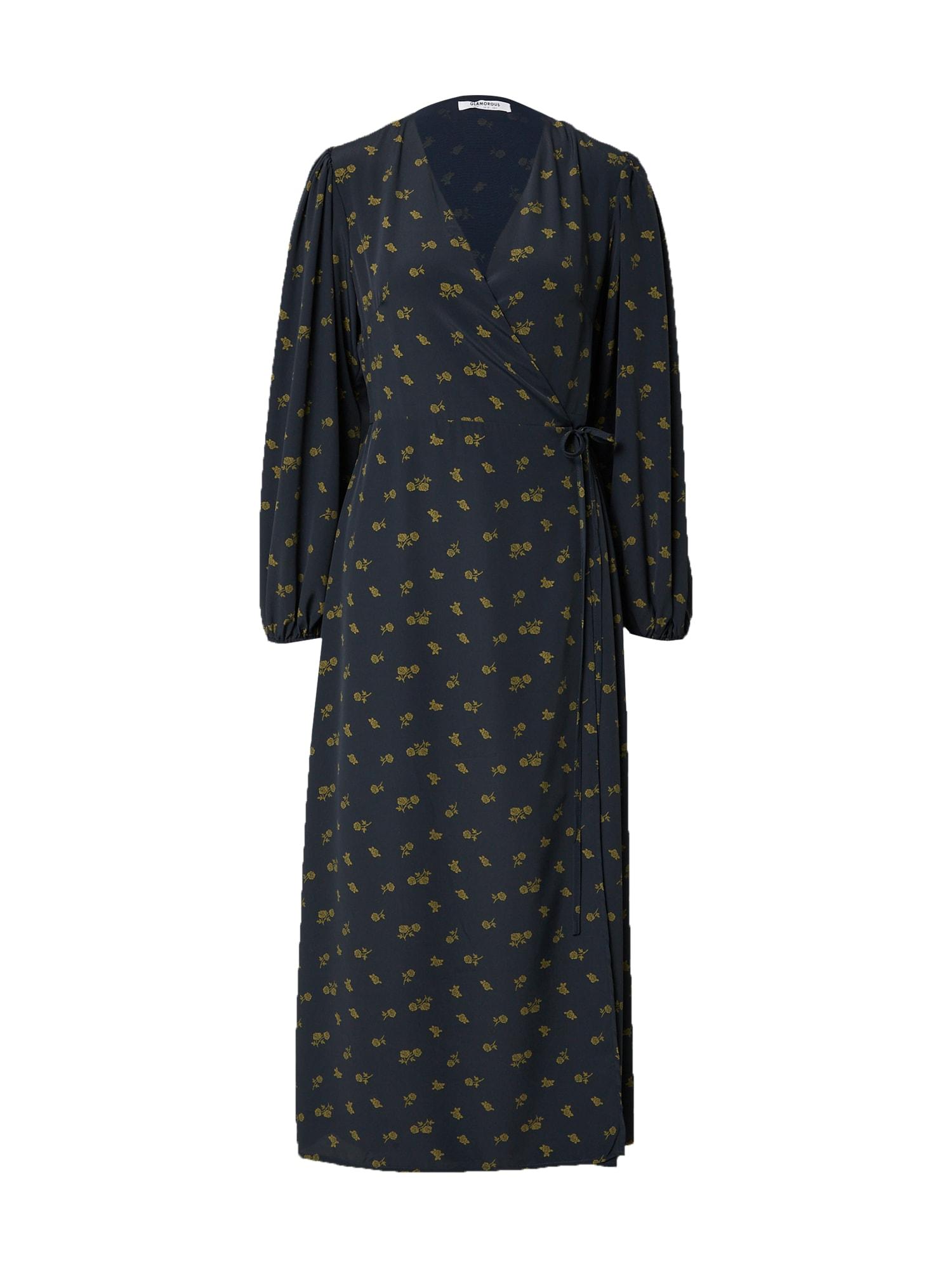 GLAMOROUS Suknelė alyvuogių spalva / tamsiai mėlyna