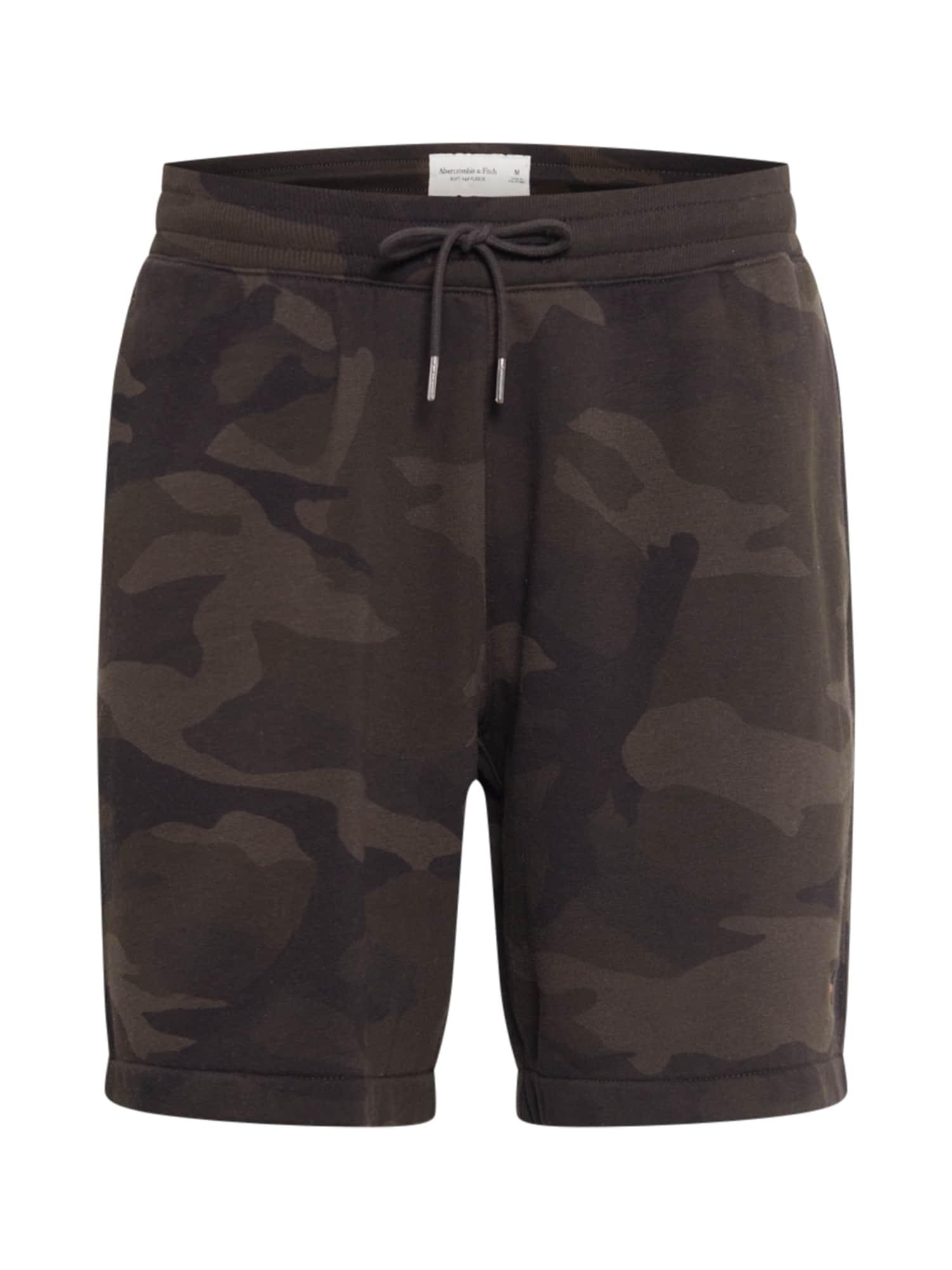 Abercrombie & Fitch Kelnės antracito / tamsiai žalia / alyvuogių spalva