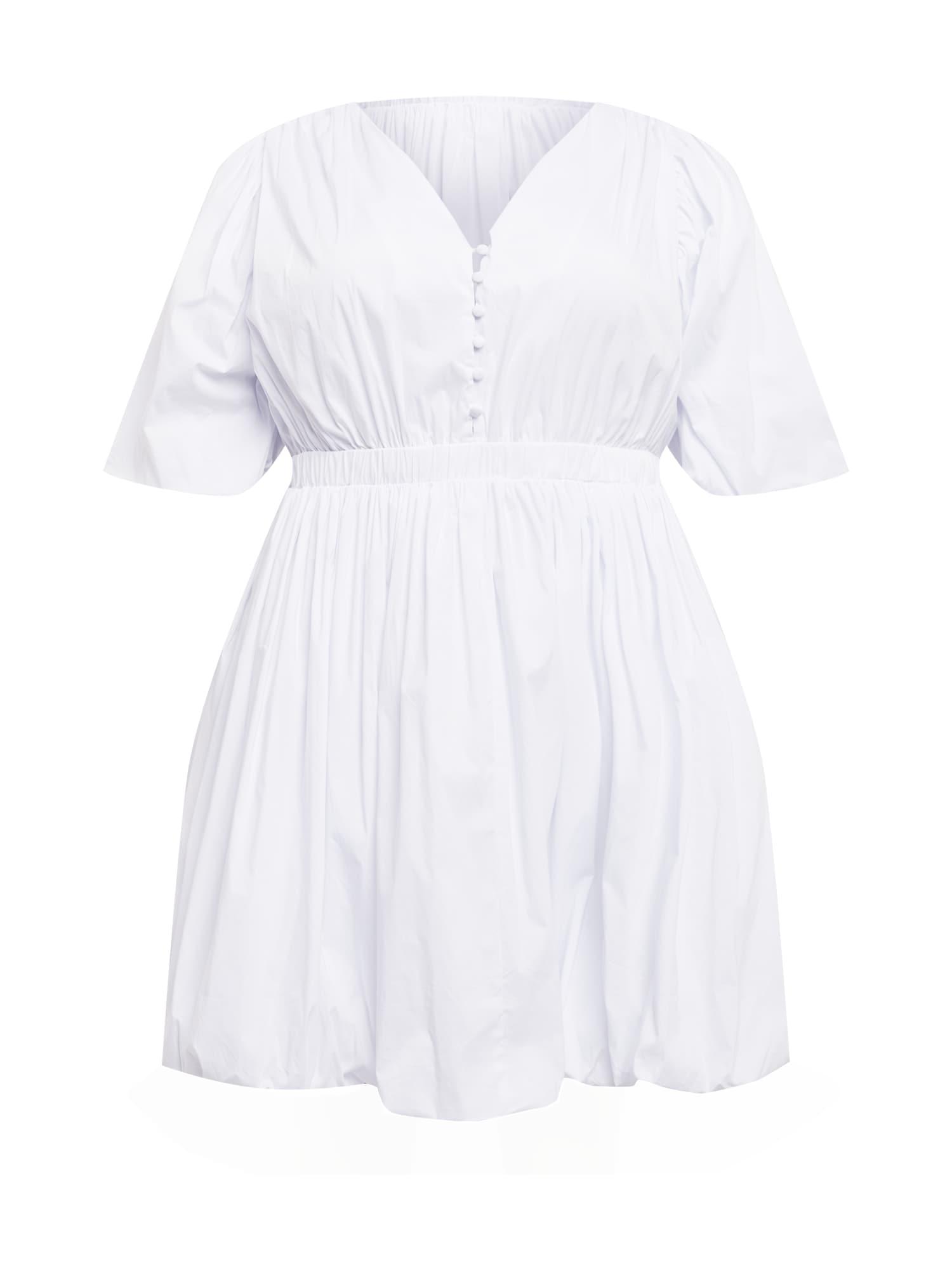 GLAMOROUS CURVE Suknelė balta