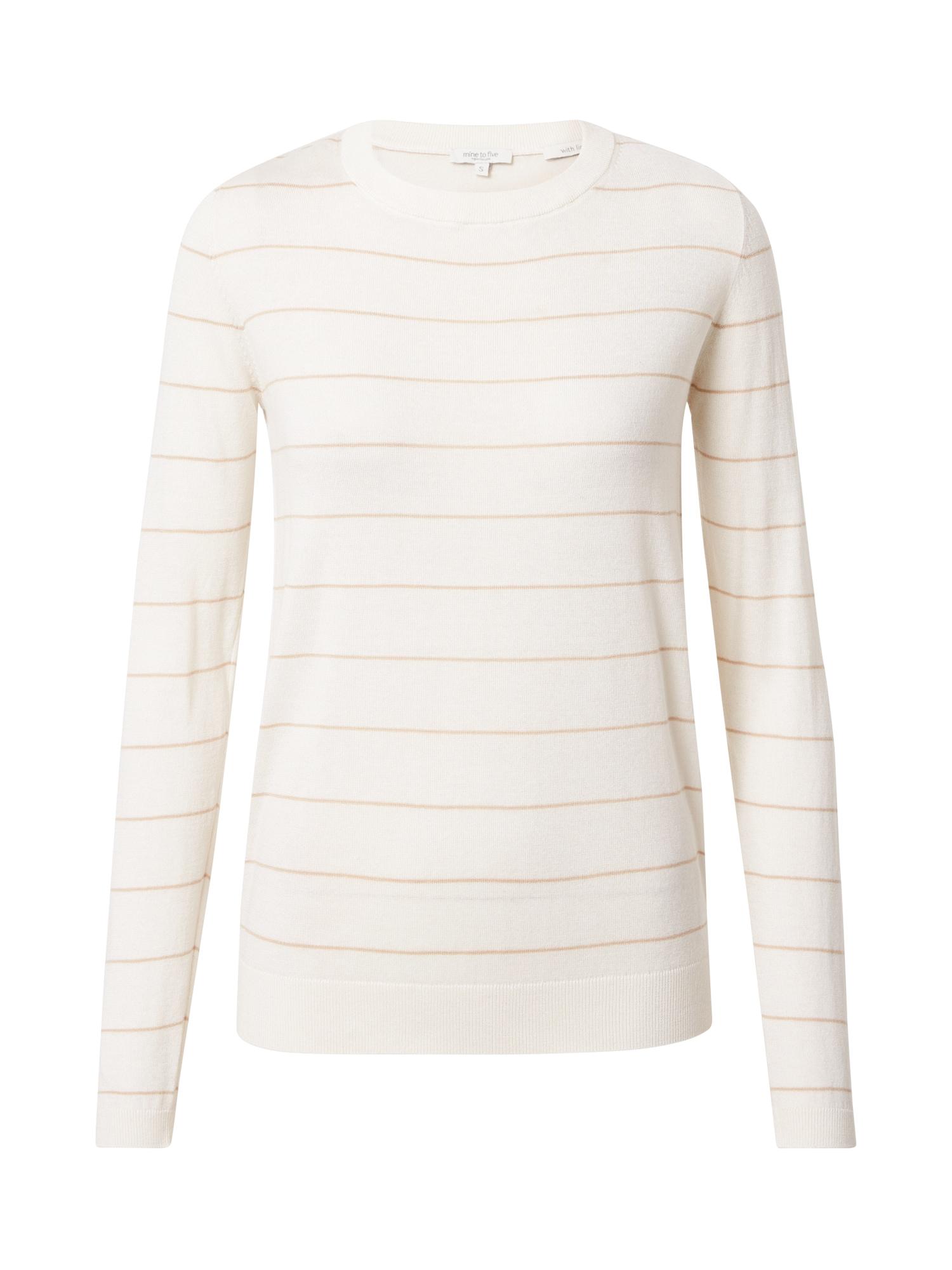MINE TO FIVE Megztinis balta / smėlio spalva