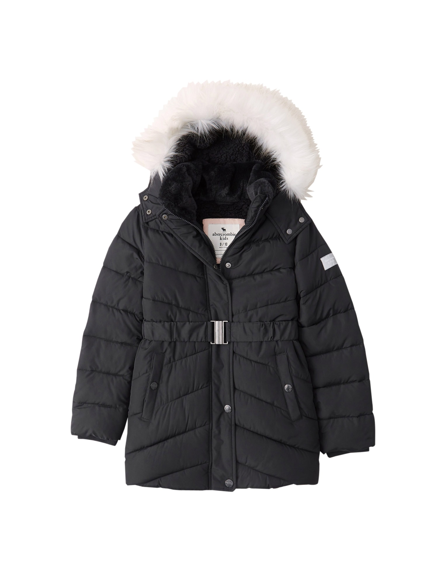 Abercrombie & Fitch Žieminė striukė 'ADVENTURE' juoda