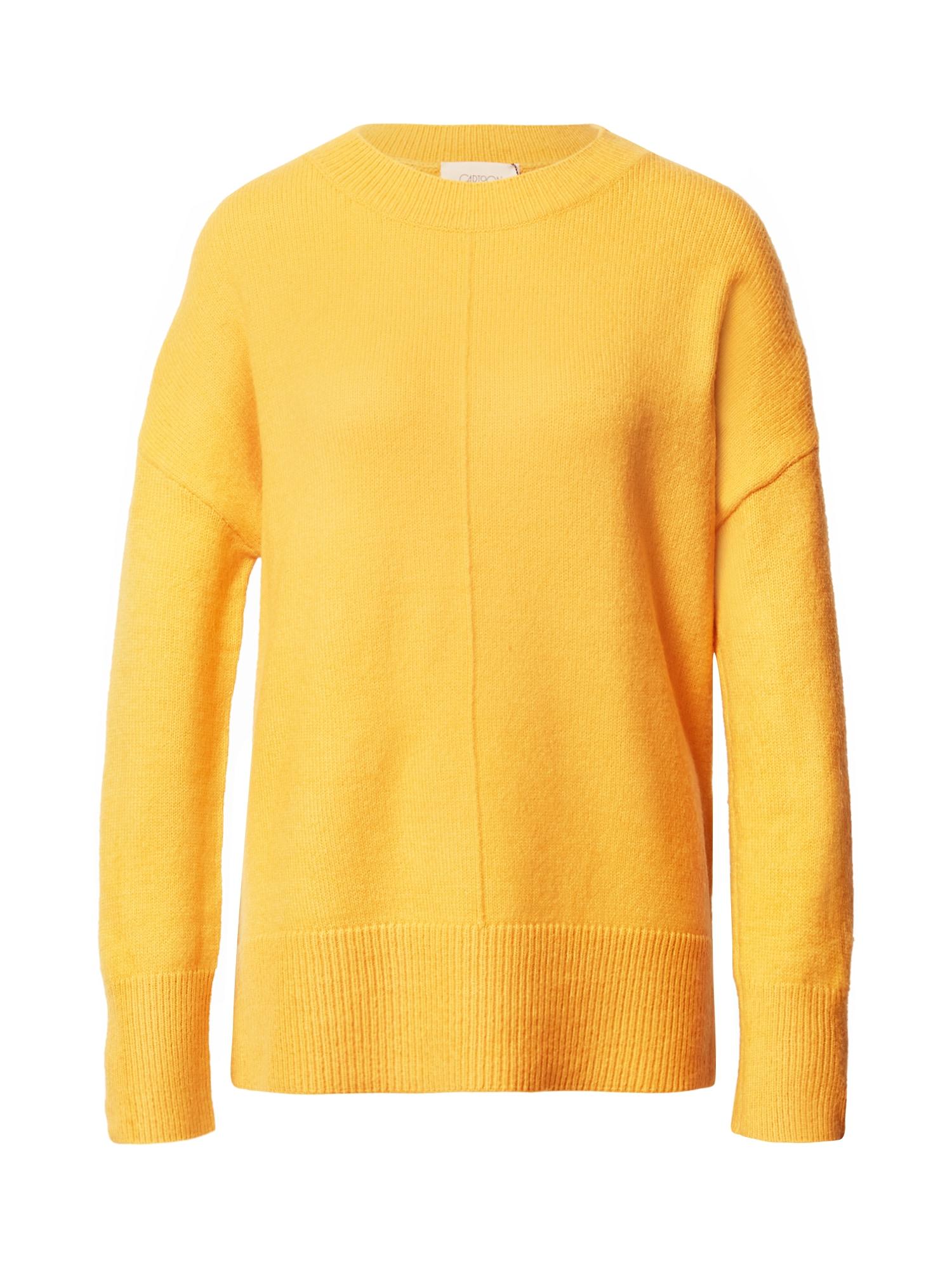 Cartoon Megztinis geltonosios citrinos spalva