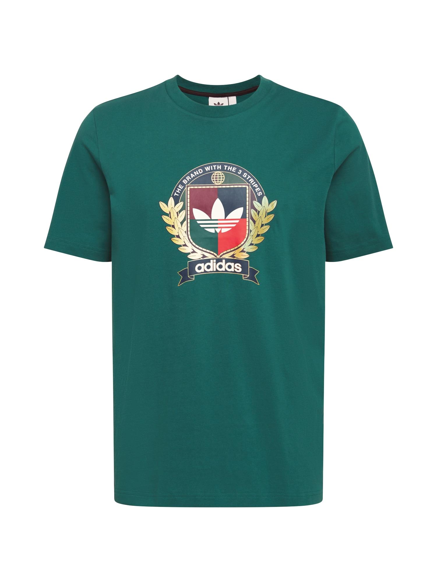 ADIDAS ORIGINALS Marškinėliai 'College Crest' žalia