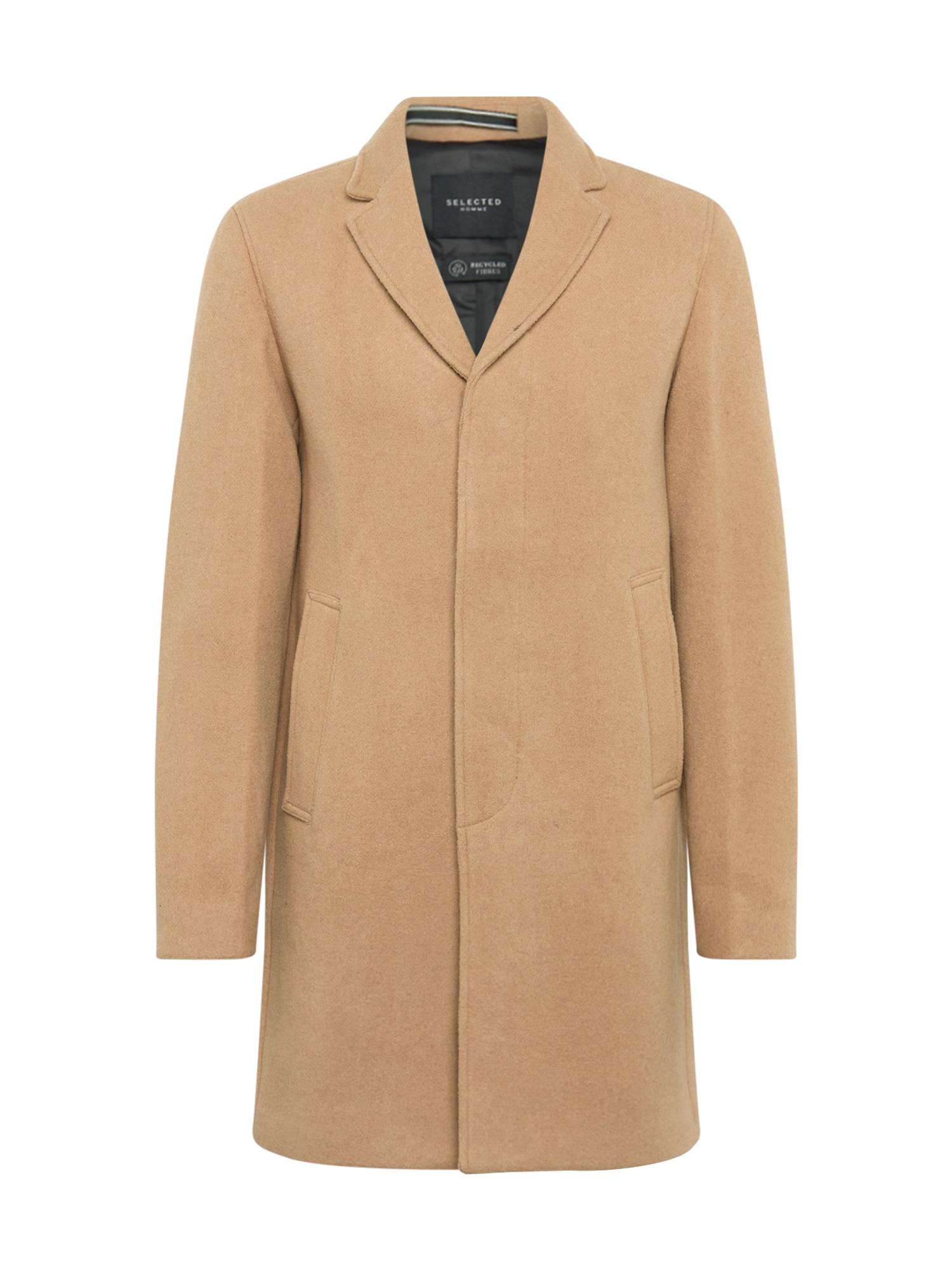 SELECTED HOMME Rudeninis-žieminis paltas šviesiai ruda