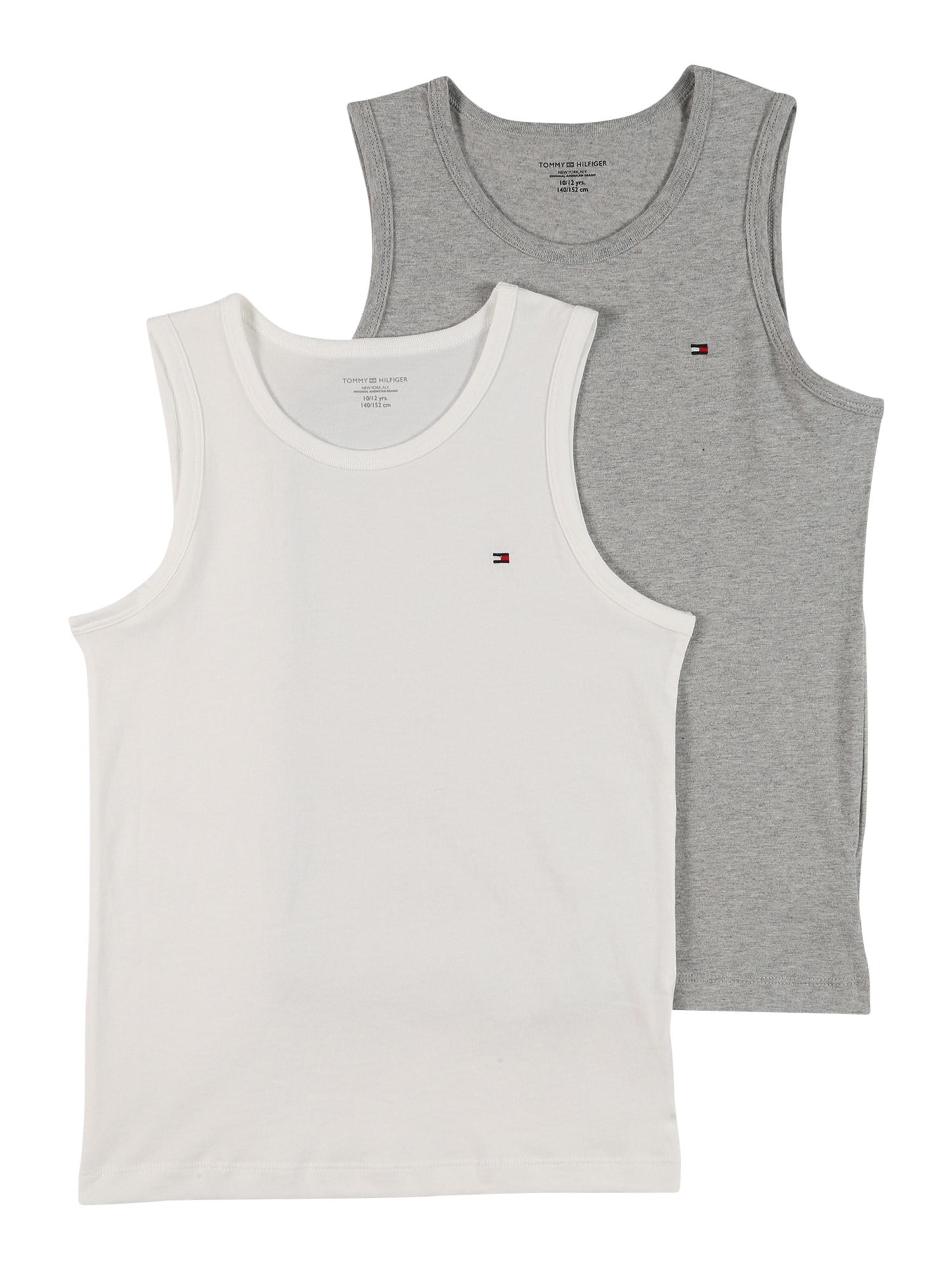 Tommy Hilfiger Underwear Apatiniai marškinėliai balta / margai pilka / raudona / tamsiai mėlyna