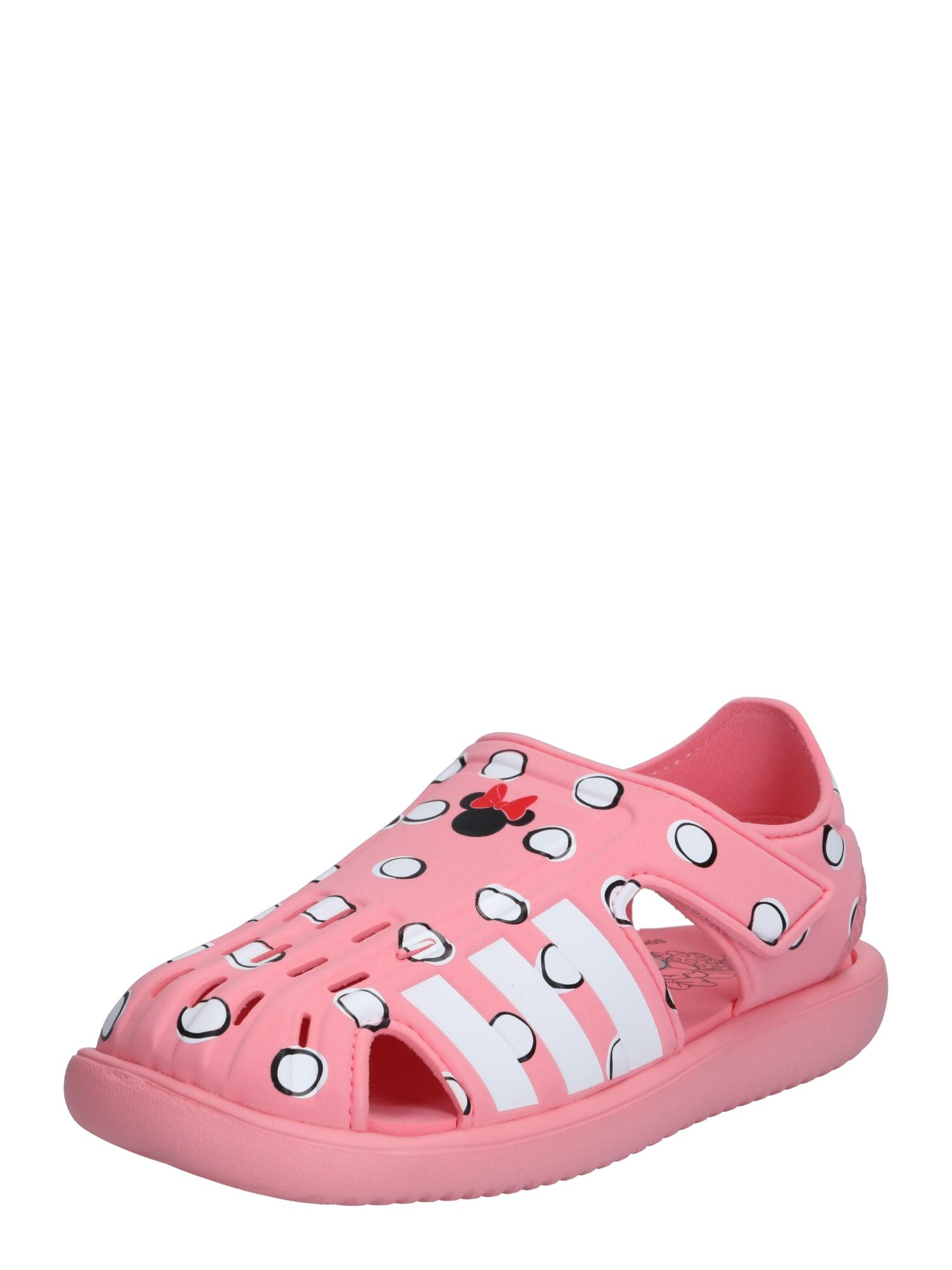 ADIDAS PERFORMANCE Sandalai / maudymosi batai rožinė / balta / juoda / rūdžių raudona