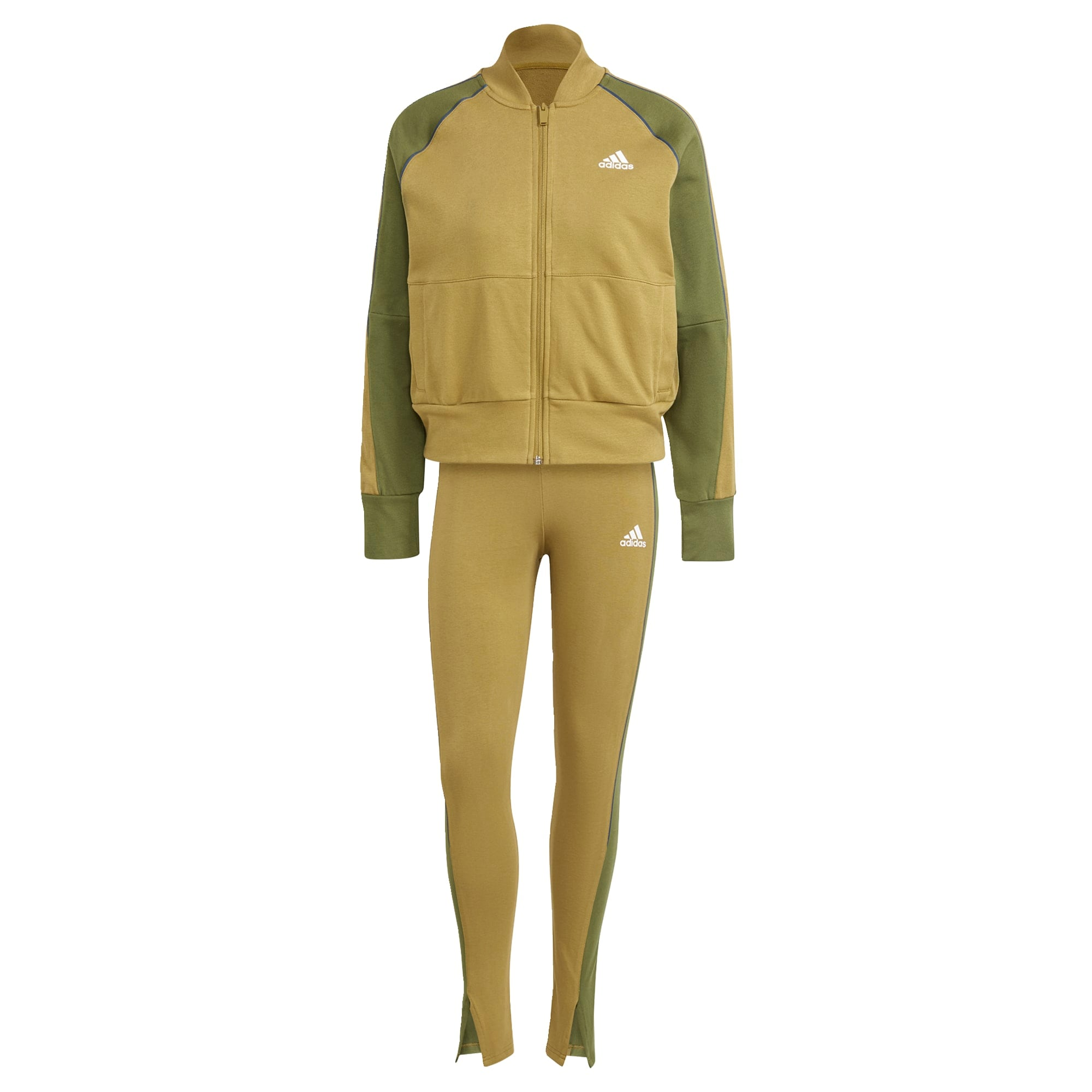 ADIDAS PERFORMANCE Treniruočių kostiumas alyvuogių spalva / žalia / balta / mėlyna
