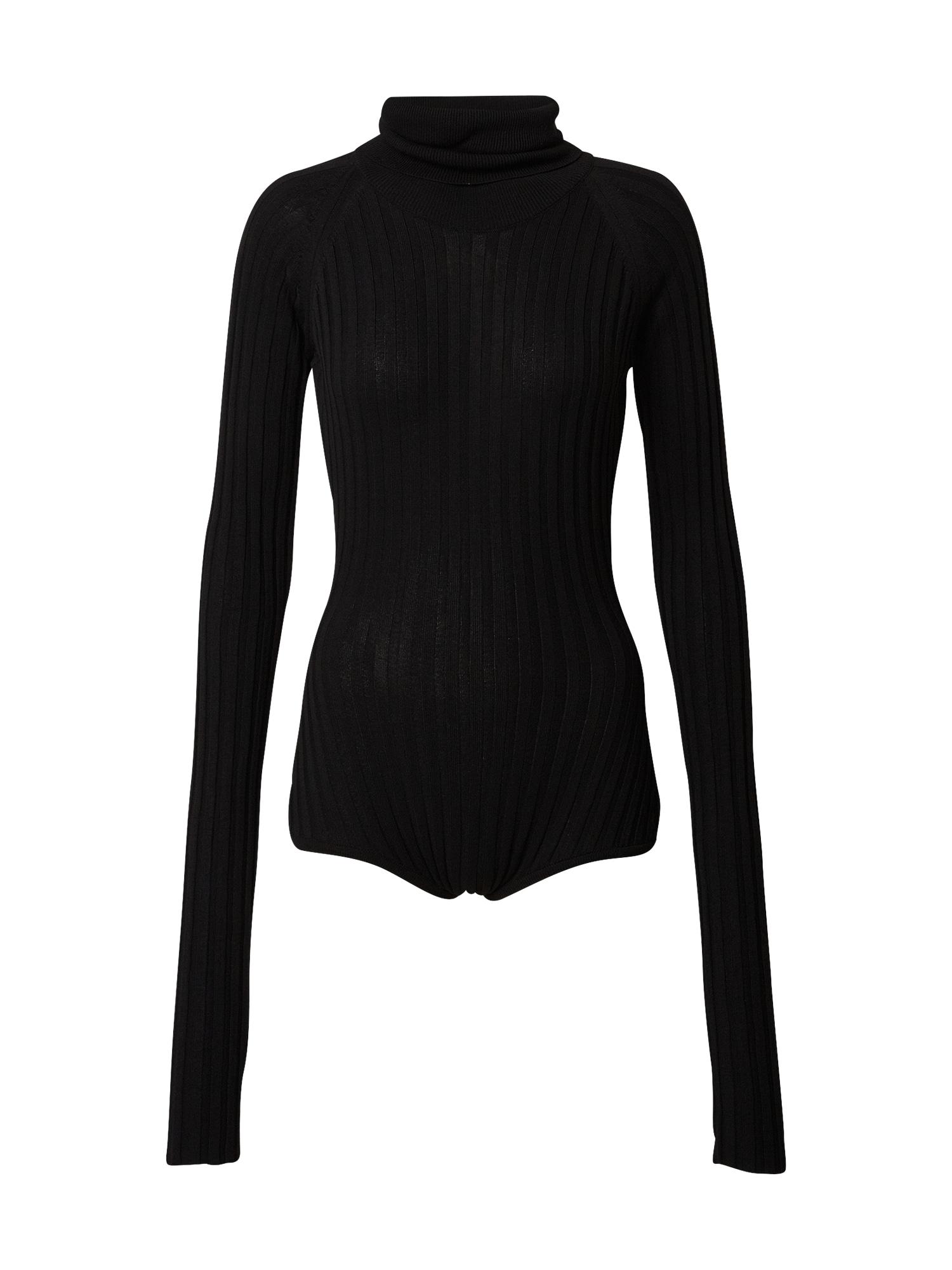 NU-IN Marškinėliai-glaustinukė juoda