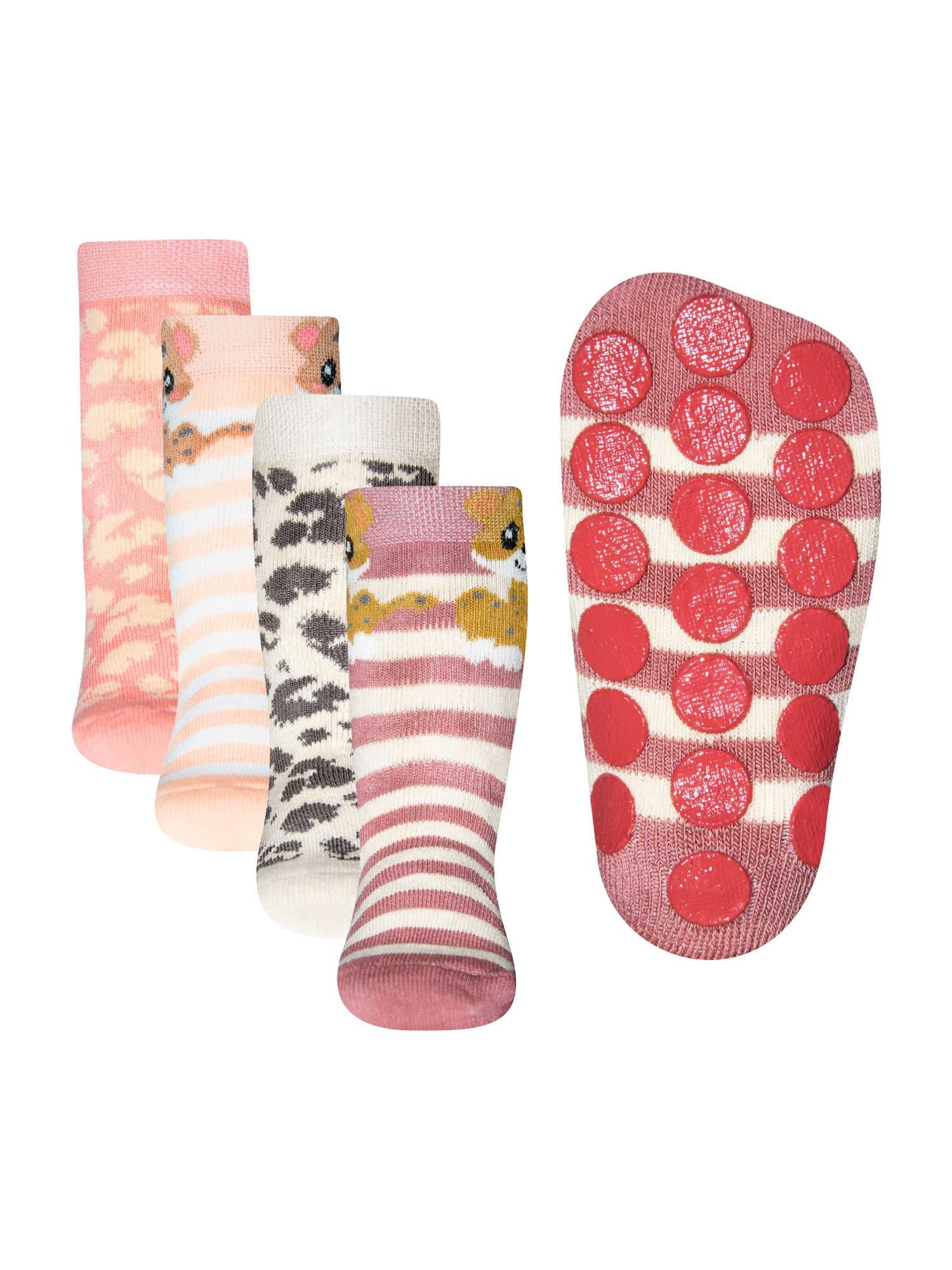 EWERS Kojinės persikų spalva / uogų spalva / šviesiai pilka / šviesiai rožinė