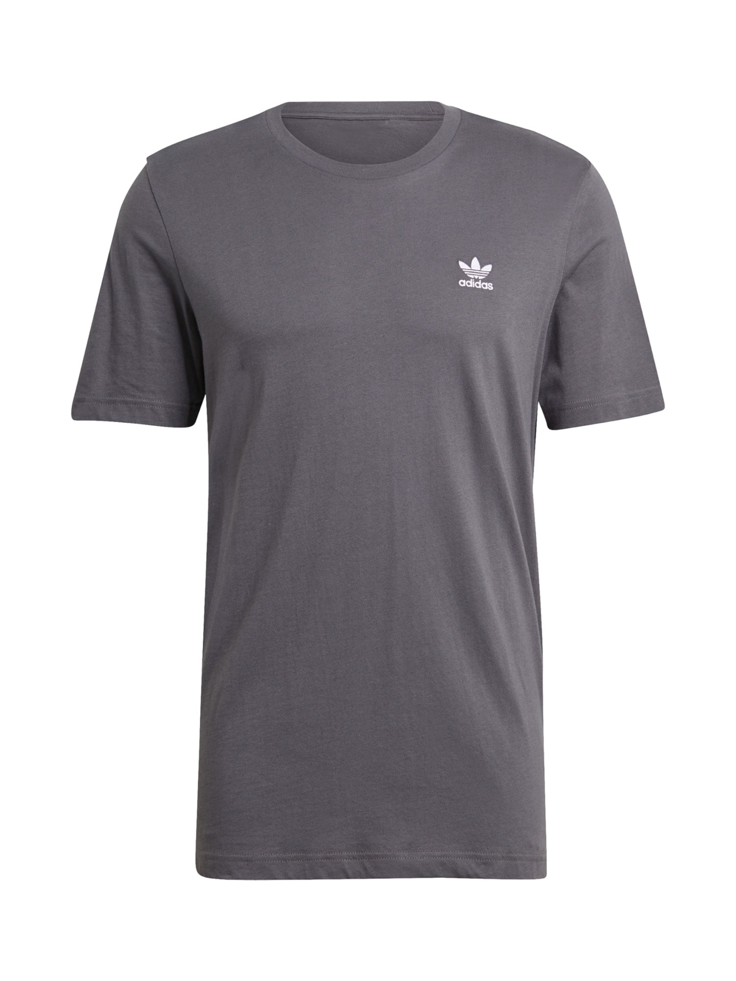 ADIDAS ORIGINALS Marškinėliai tamsiai pilka / balta