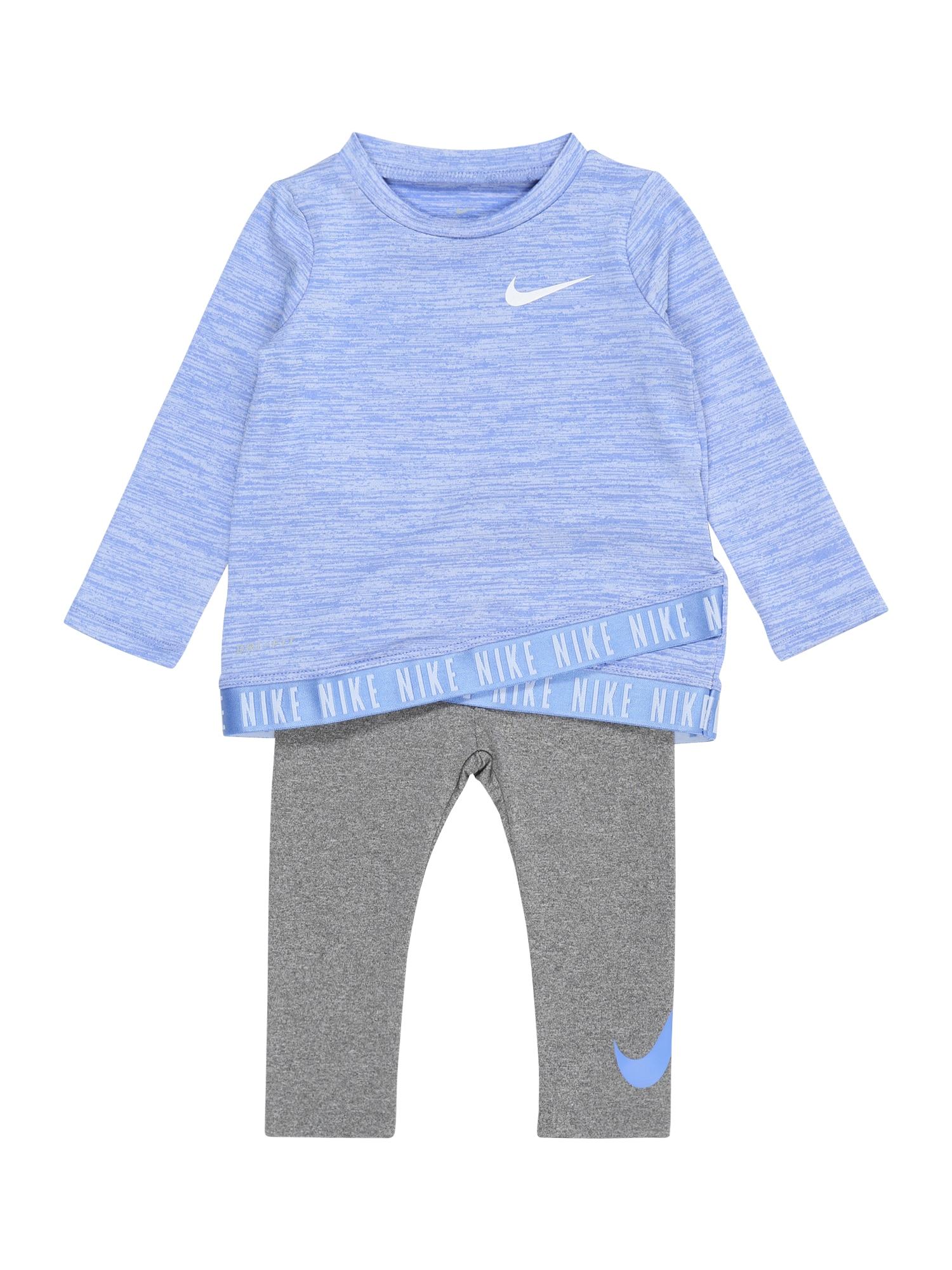 NIKE Sportinis kostiumas margai pilka / šviesiai mėlyna