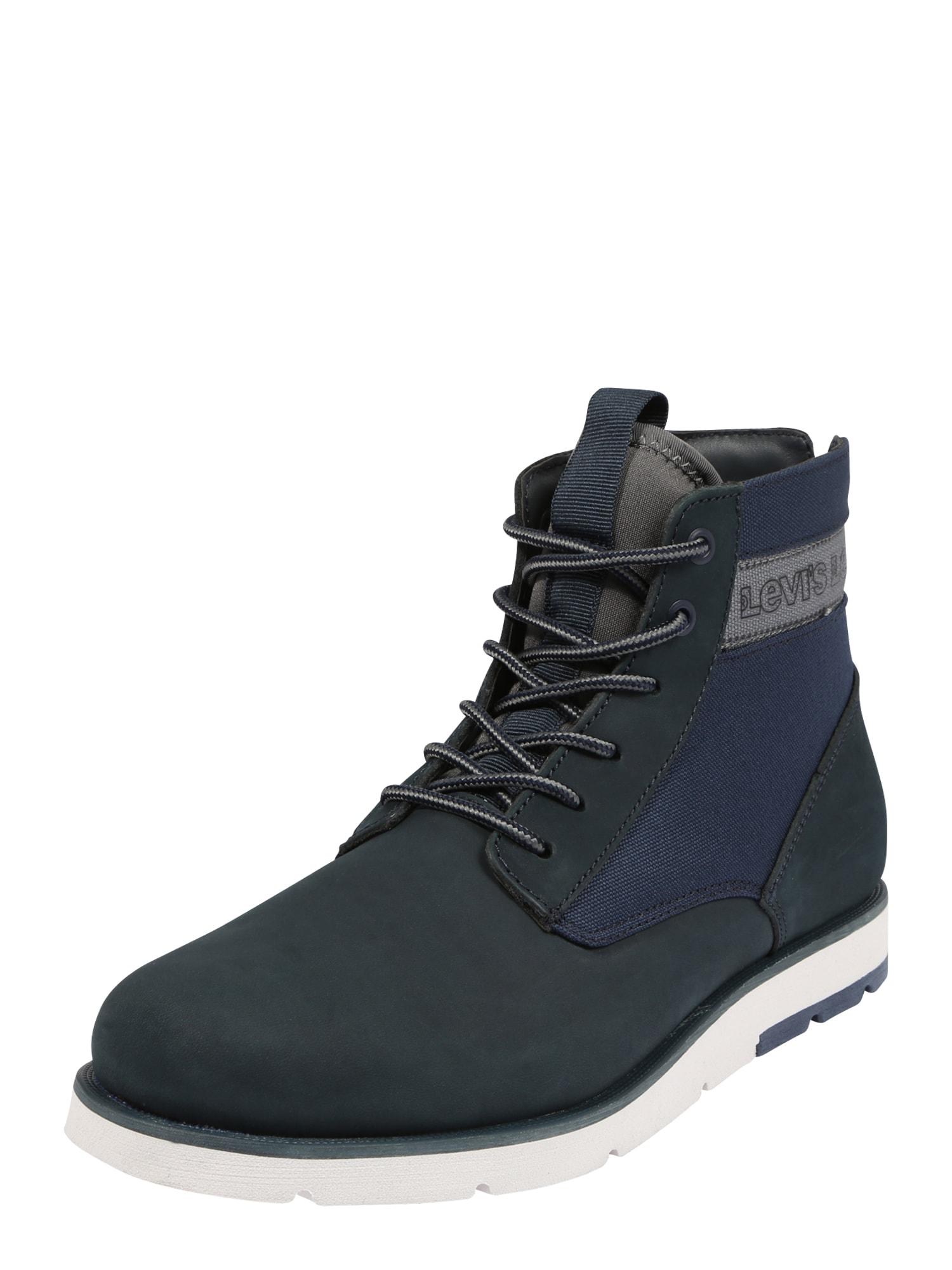 LEVI'S Šněrovací boty 'JAX XLITE'  bílá / námořnická modř / tmavě modrá