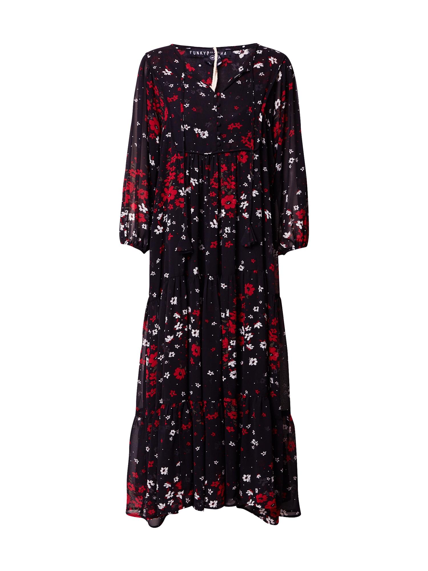 Funky Buddha Suknelė juoda / raudona / balta