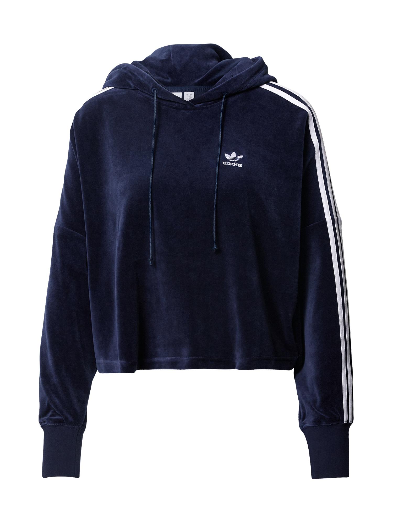 ADIDAS ORIGINALS Megztinis be užsegimo balta / tamsiai mėlyna