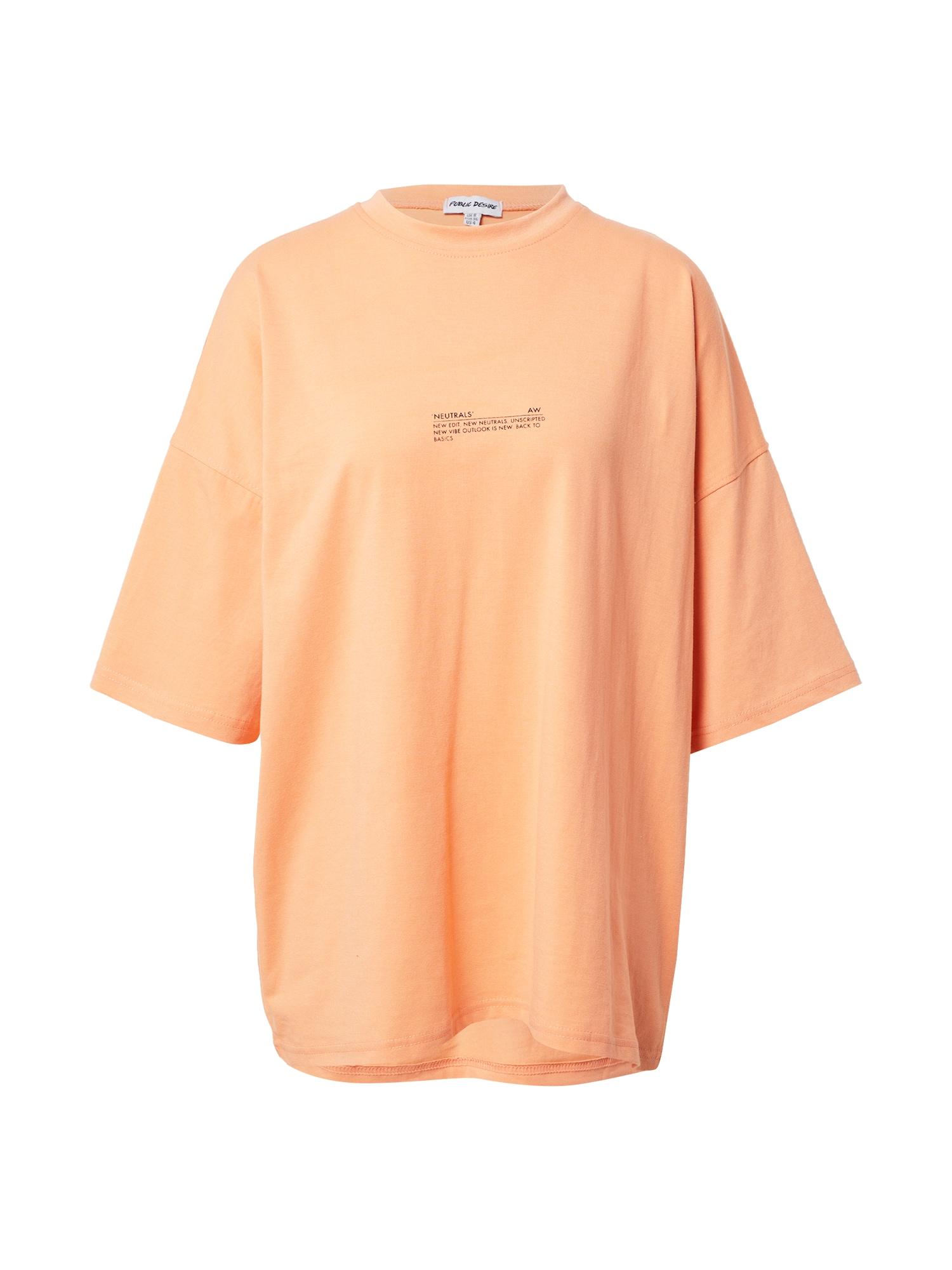 Public Desire Laisvi marškinėliai šviesiai oranžinė