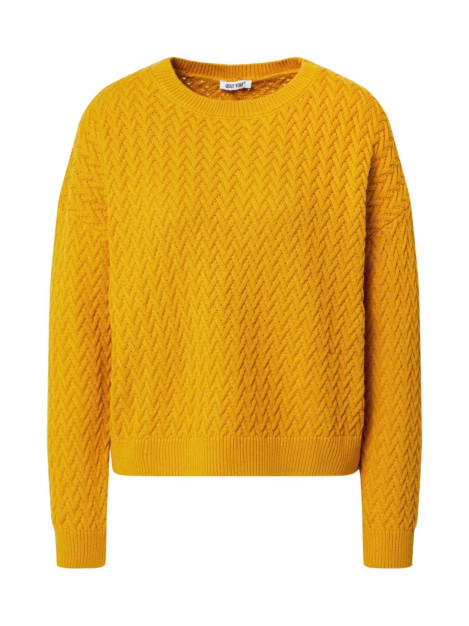 ABOUT YOU Megztinis 'Layla ' garstyčių spalva