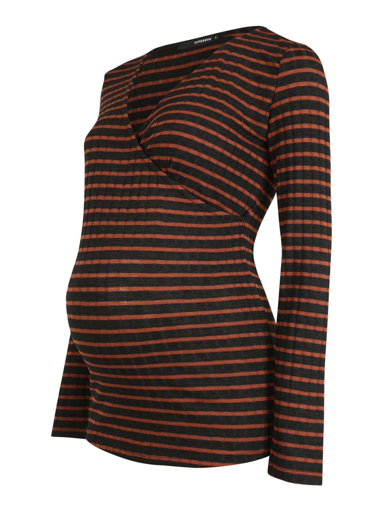 Supermom Marškinėliai ruda / juoda