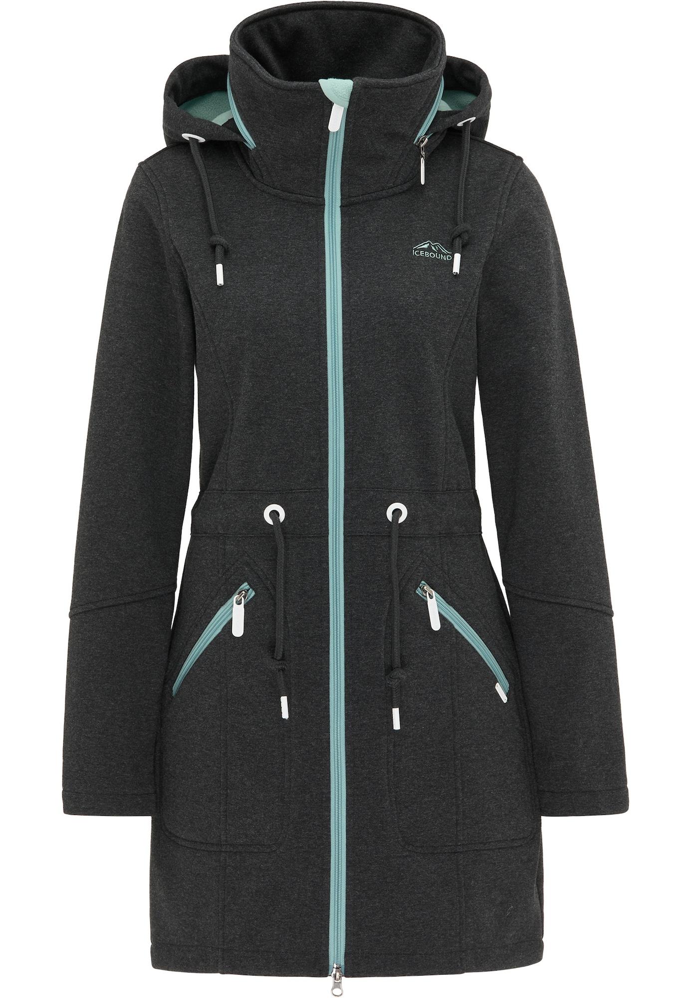 ICEBOUND Demisezoninis paltas bazalto pilka / opalo