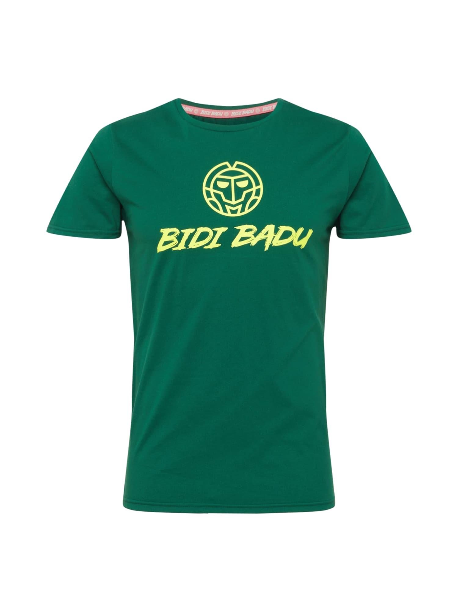 BIDI BADU Sportiniai marškinėliai tamsiai žalia / geltona