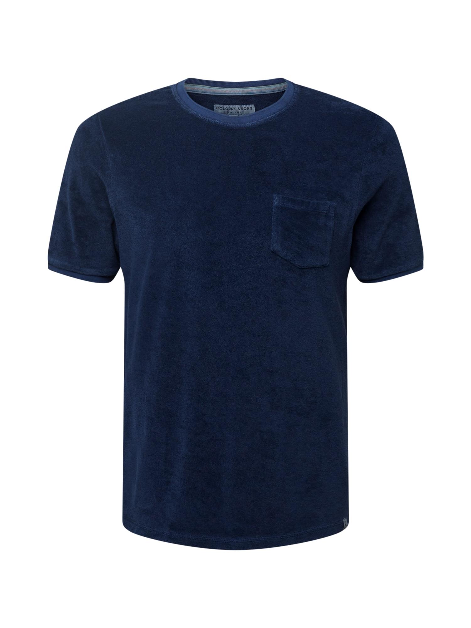 COLOURS & SONS Marškinėliai tamsiai mėlyna