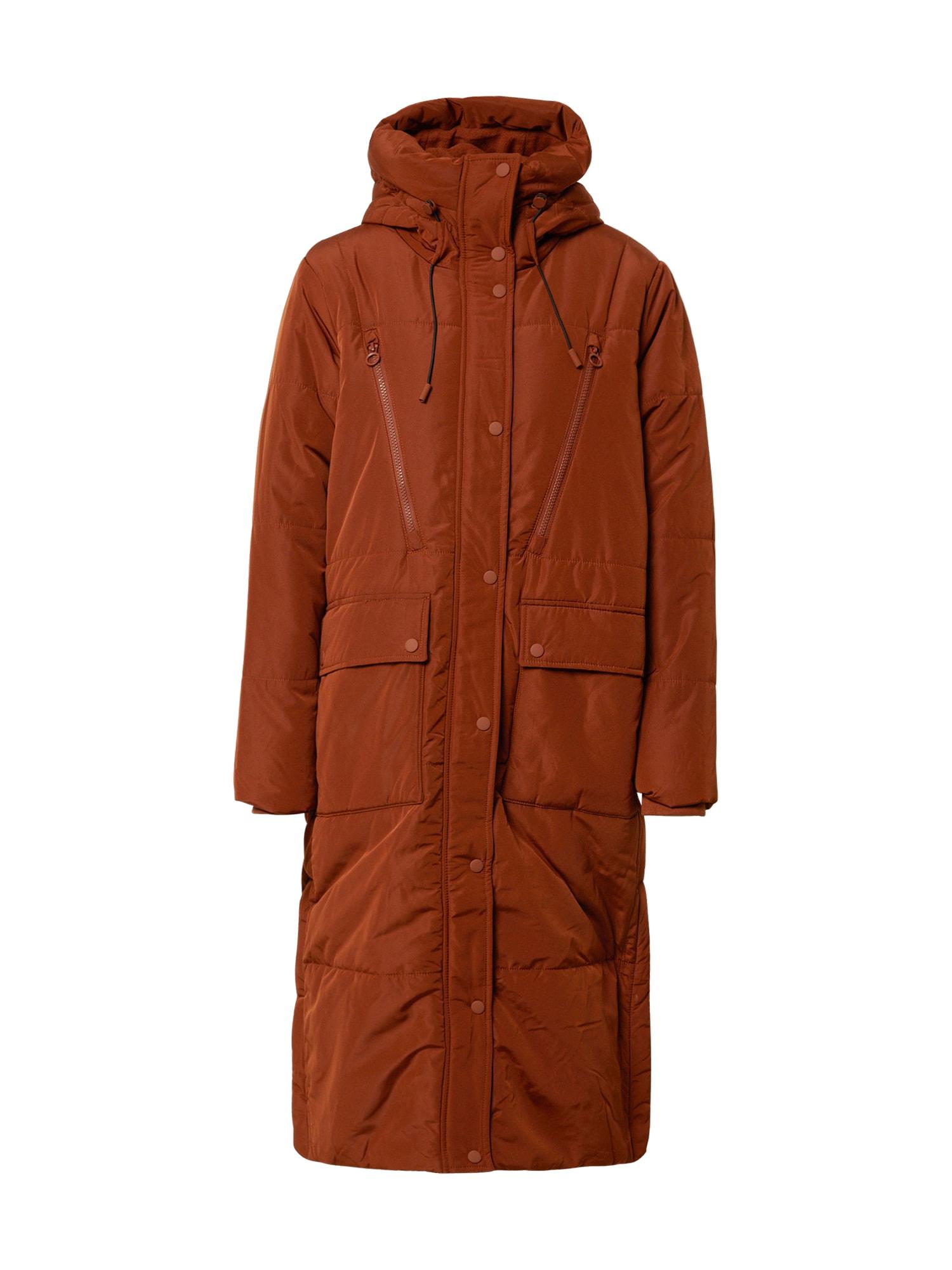 TOM TAILOR DENIM Demisezoninis paltas ruda