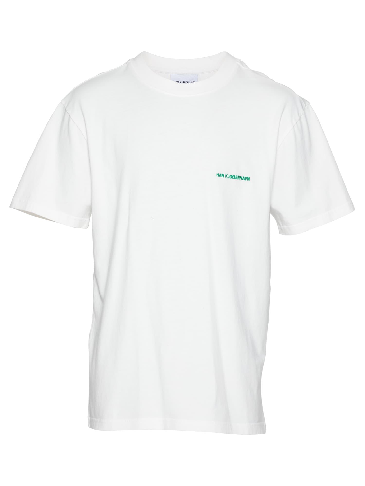 Han Kjøbenhavn Marškinėliai balta / raudona / juoda / žalia