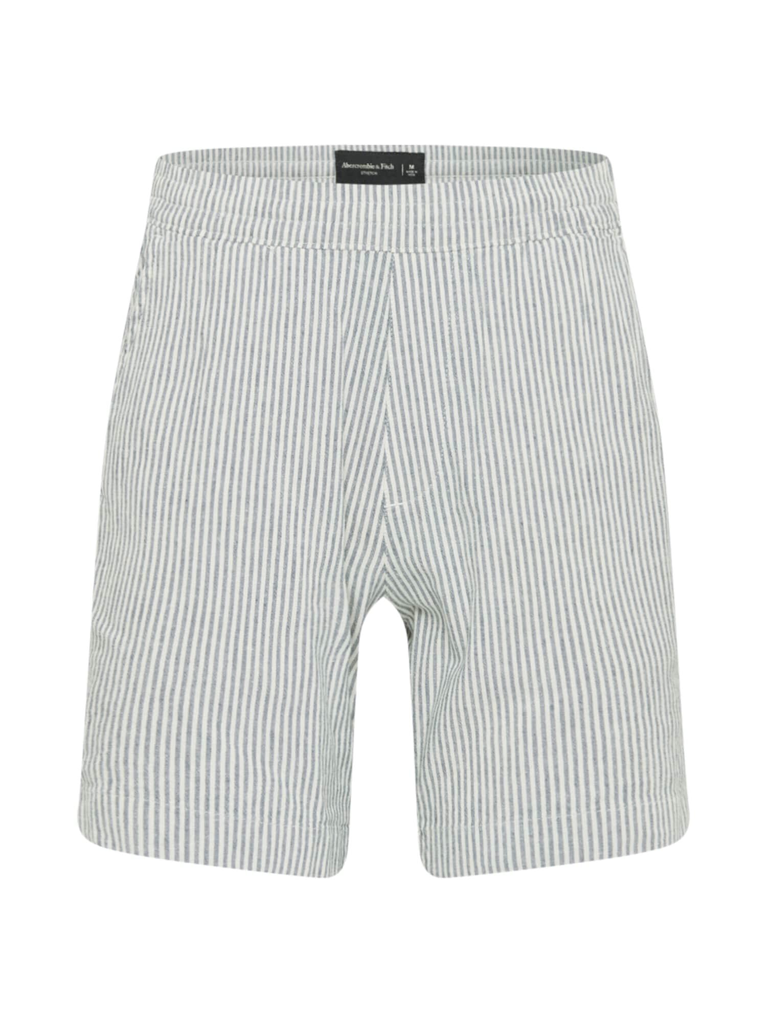 Abercrombie & Fitch Kelnės balta / melsvai pilka