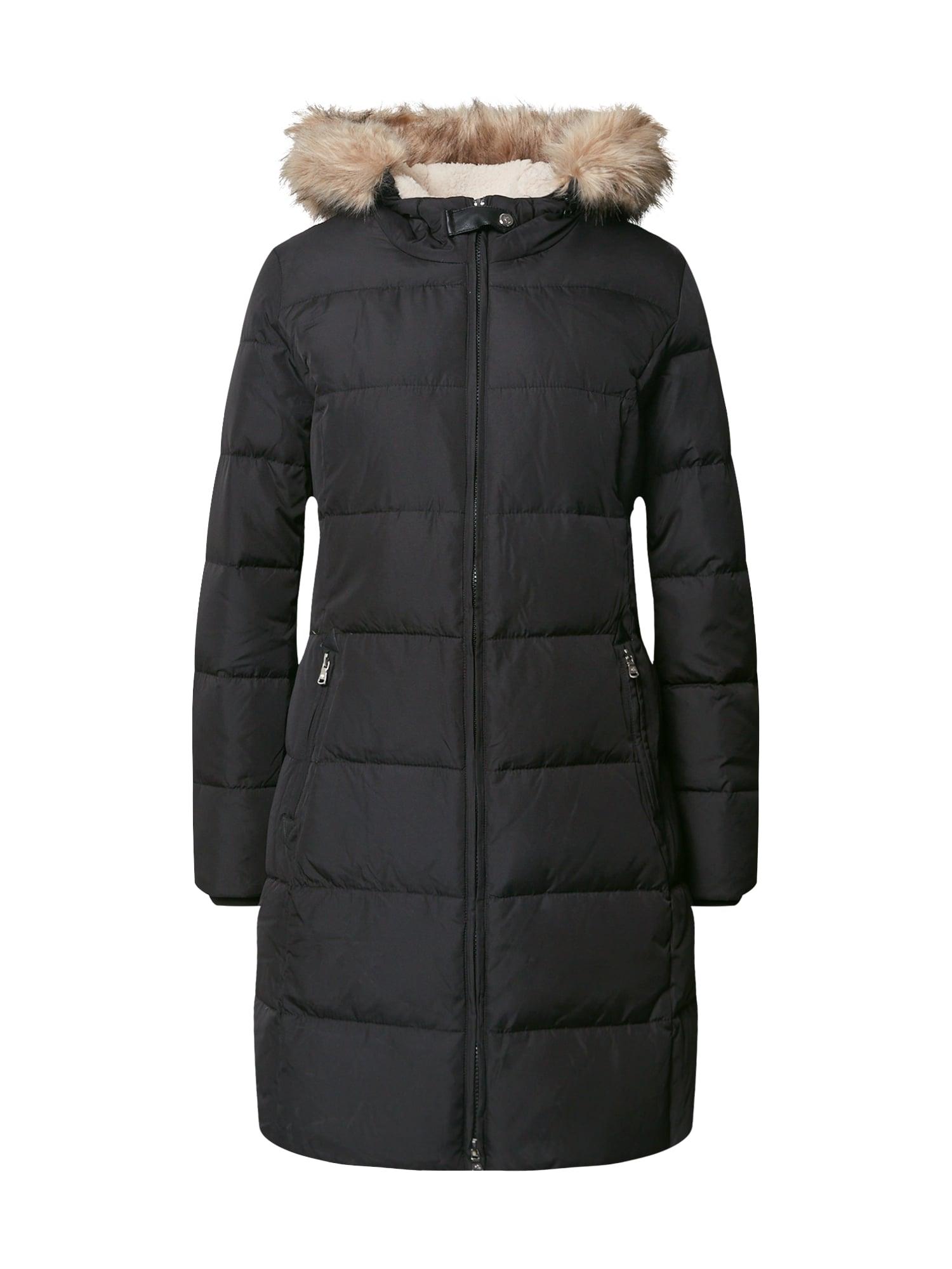 Lauren Ralph Lauren Zimní kabát  černá / hnědá