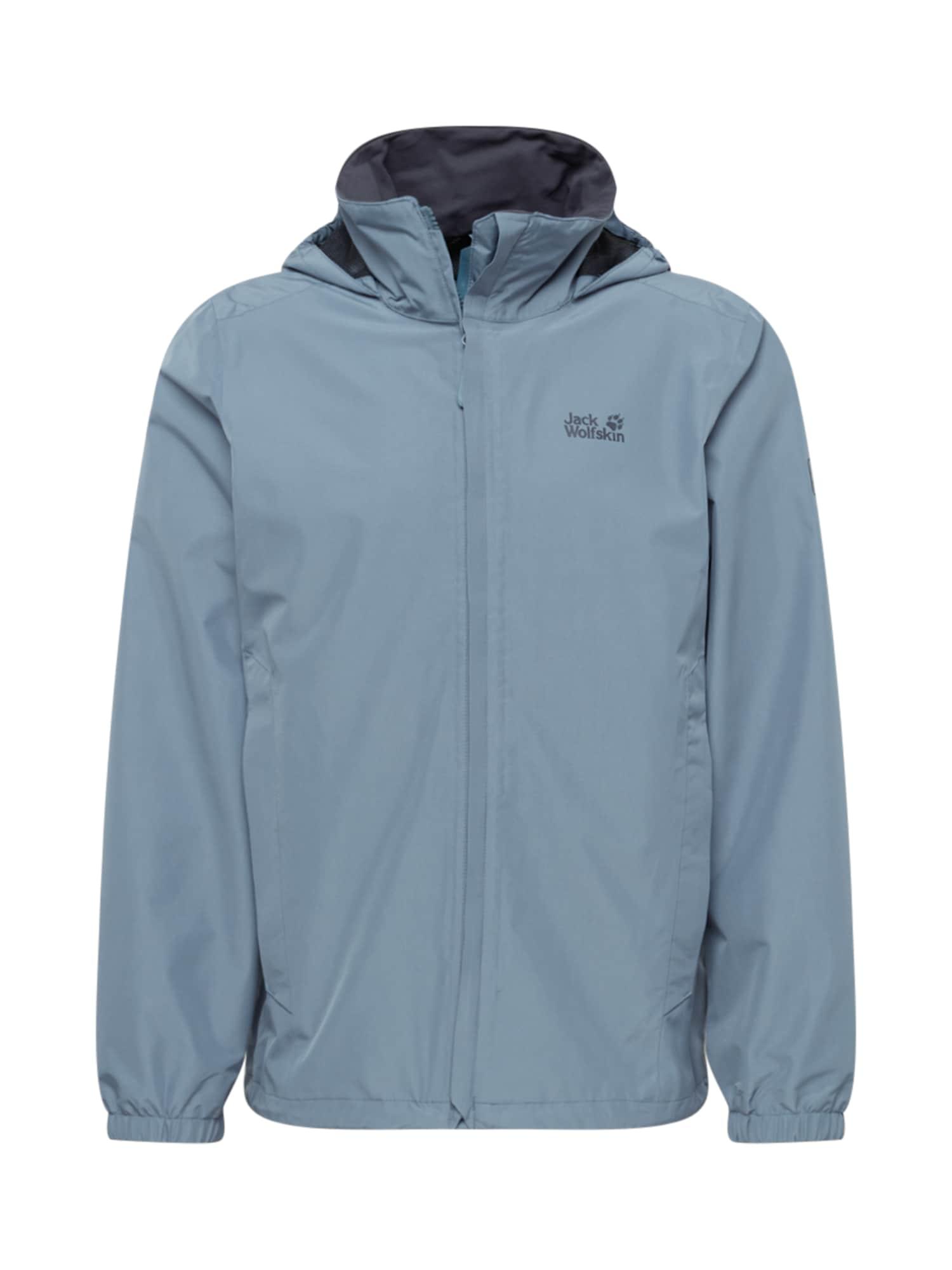 JACK WOLFSKIN Funkční bunda 'Stormy point'  šedá / chladná modrá