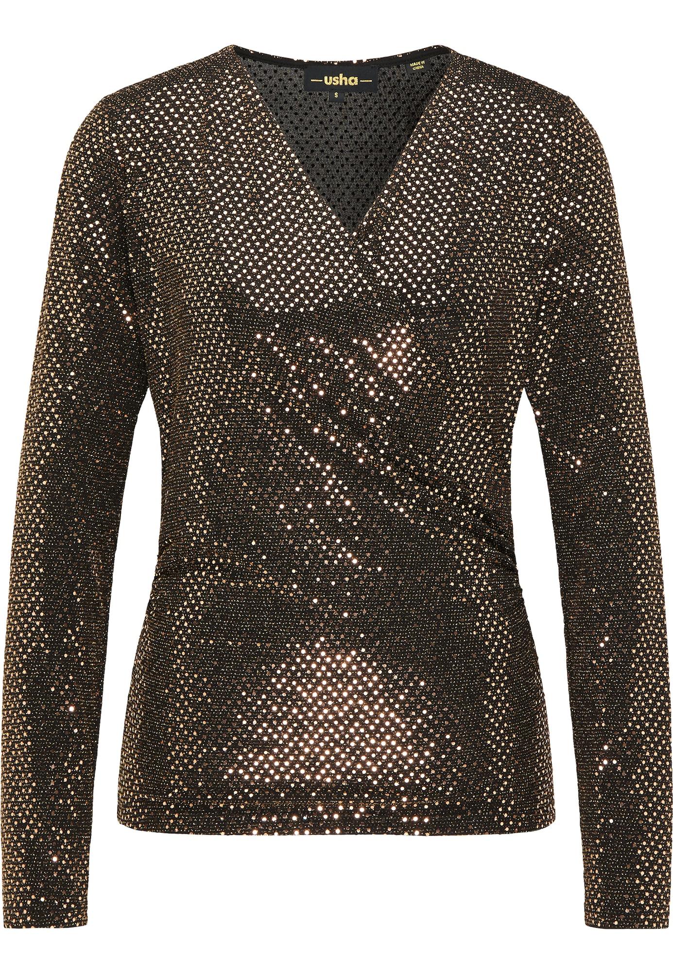 usha BLACK LABEL Marškinėliai auksas / juoda