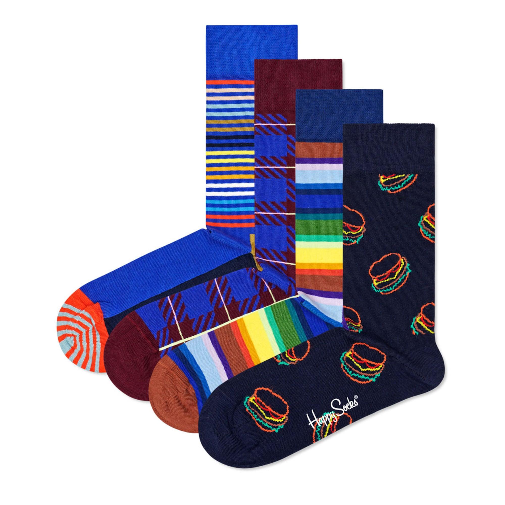 Happy Socks Kojinės mėlyna / nakties mėlyna / vyšninė spalva / mišrios spalvos