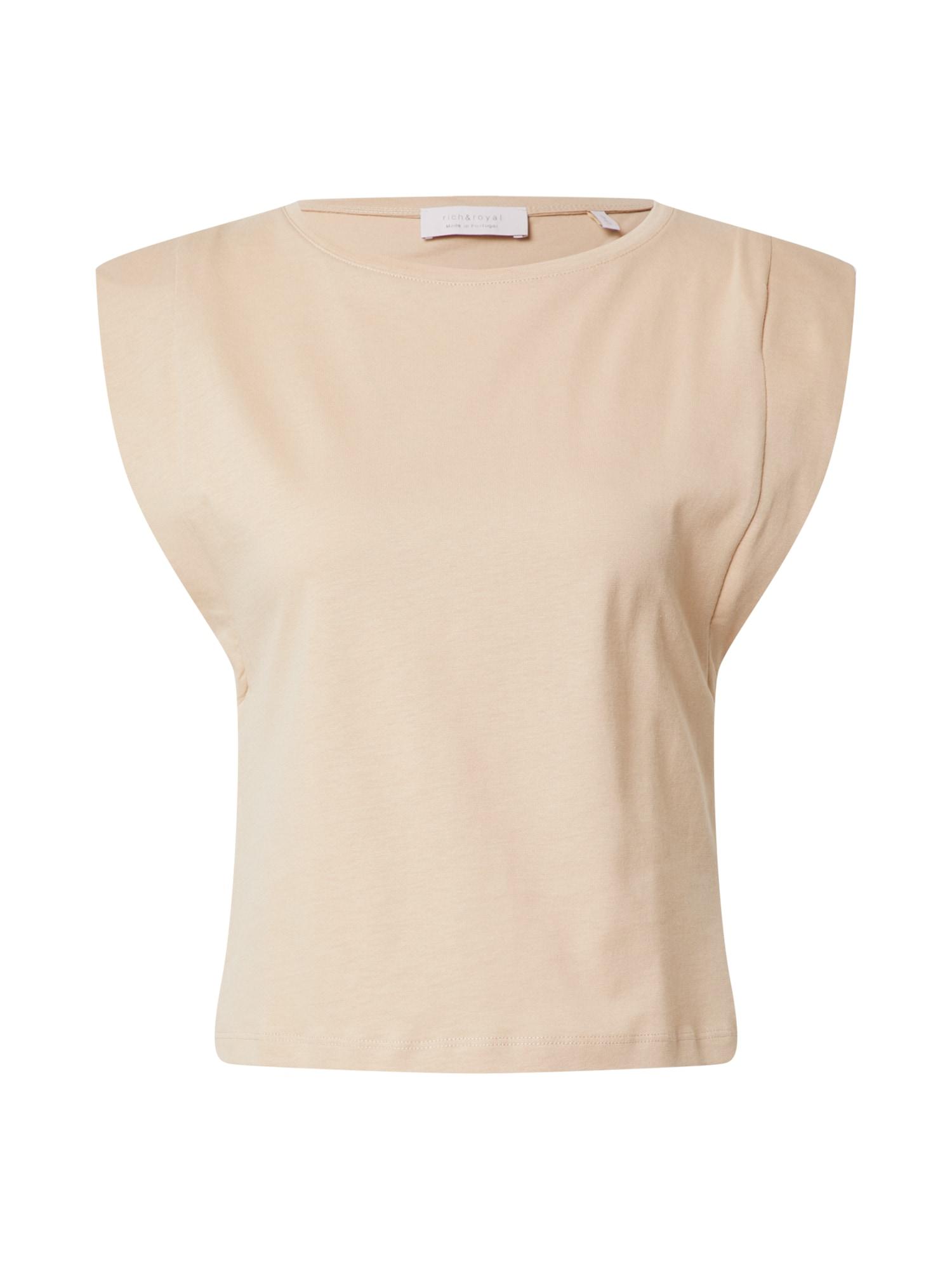 Rich & Royal Marškinėliai gelsvai pilka spalva