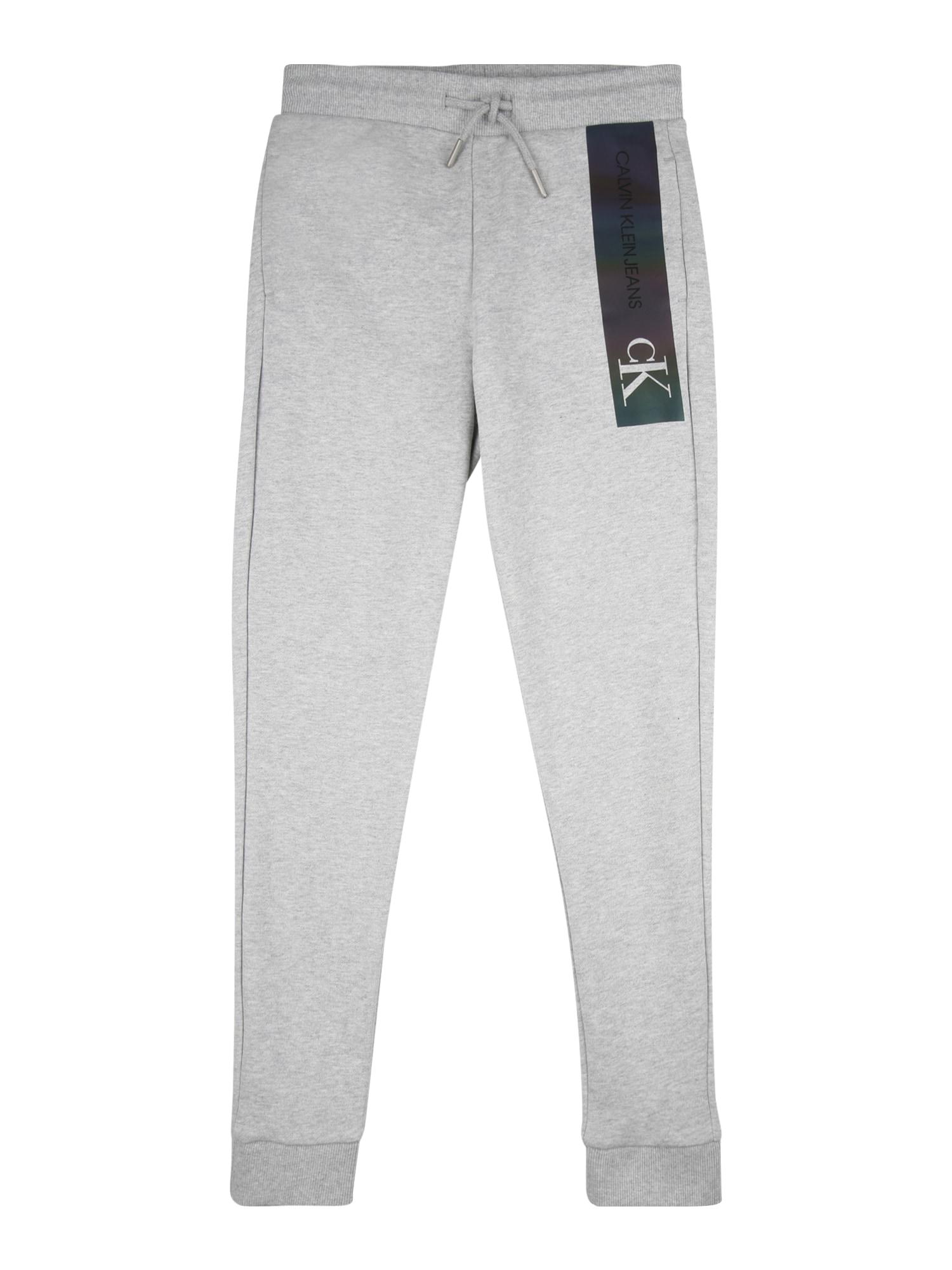 Calvin Klein Kalhoty  černá / šedá / bílá