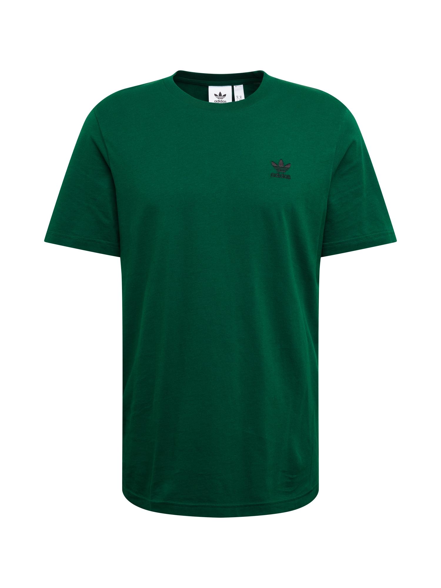 ADIDAS ORIGINALS Marškinėliai 'ESSENTIAL' tamsiai žalia
