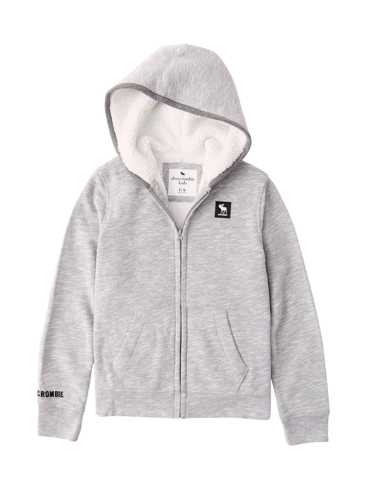 Abercrombie & Fitch Džemperis tamsiai pilka / margai pilka