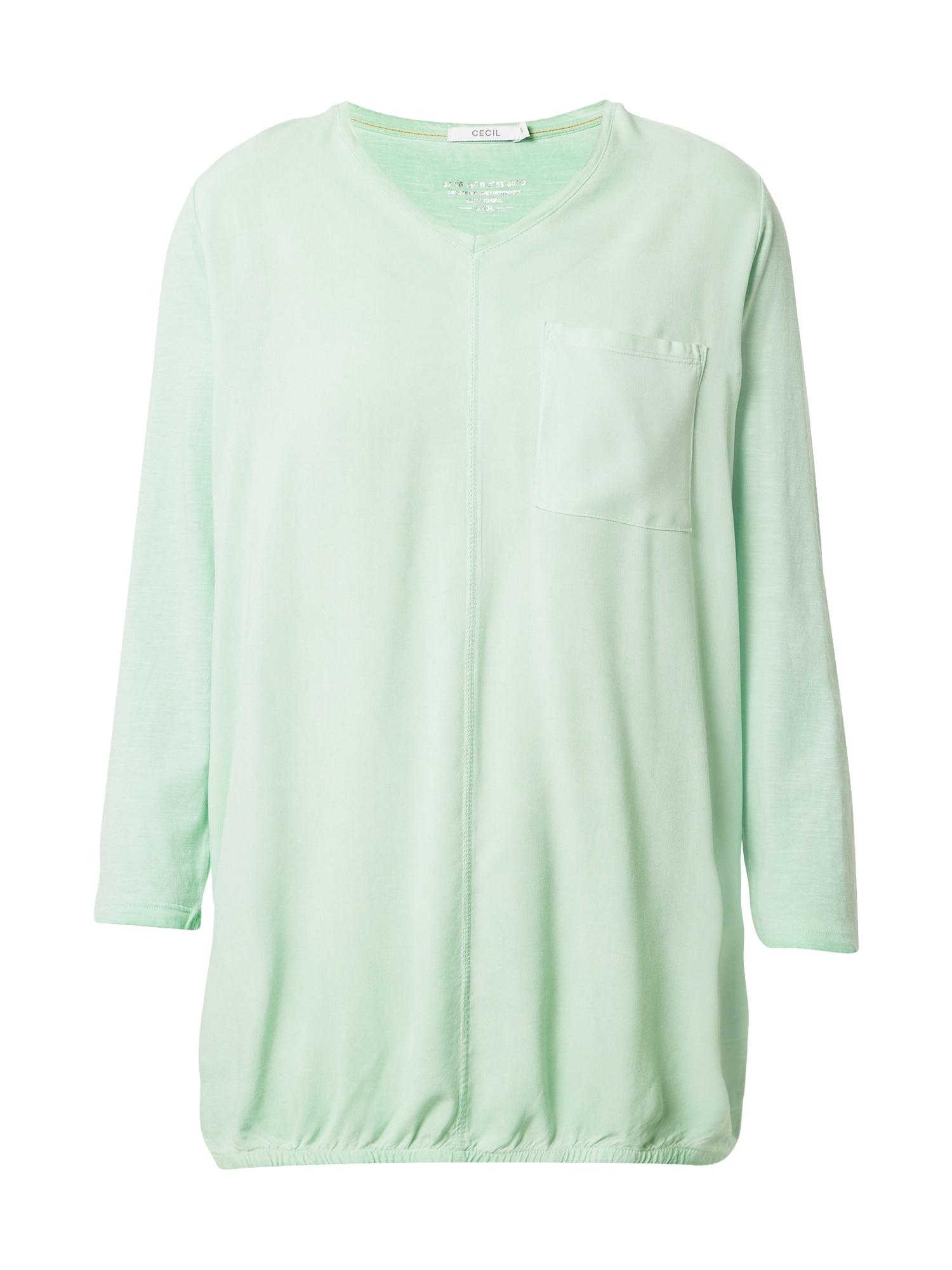 CECIL Marškinėliai mėtų spalva